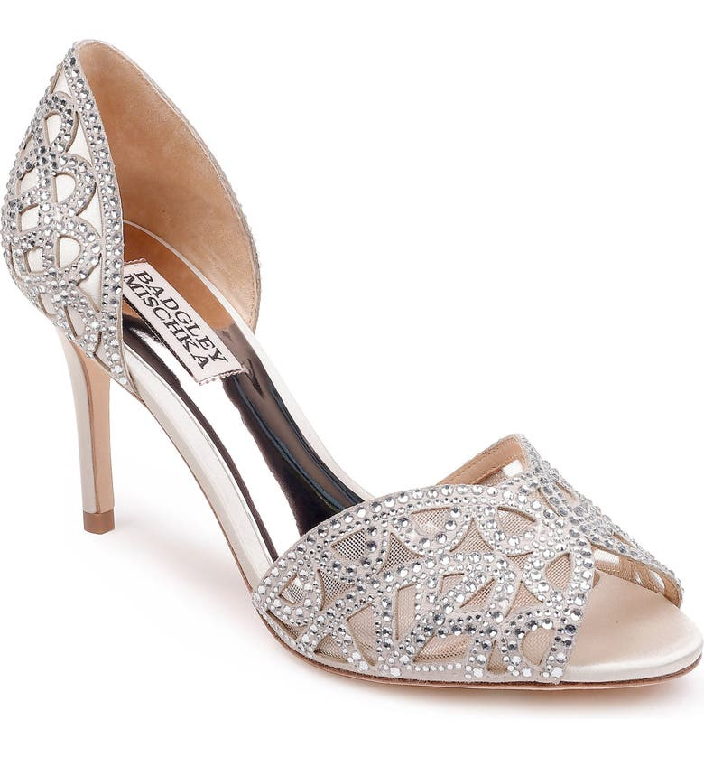 Badgley Mischka Harris Peep Toe Pump (Women) | Nordstrom