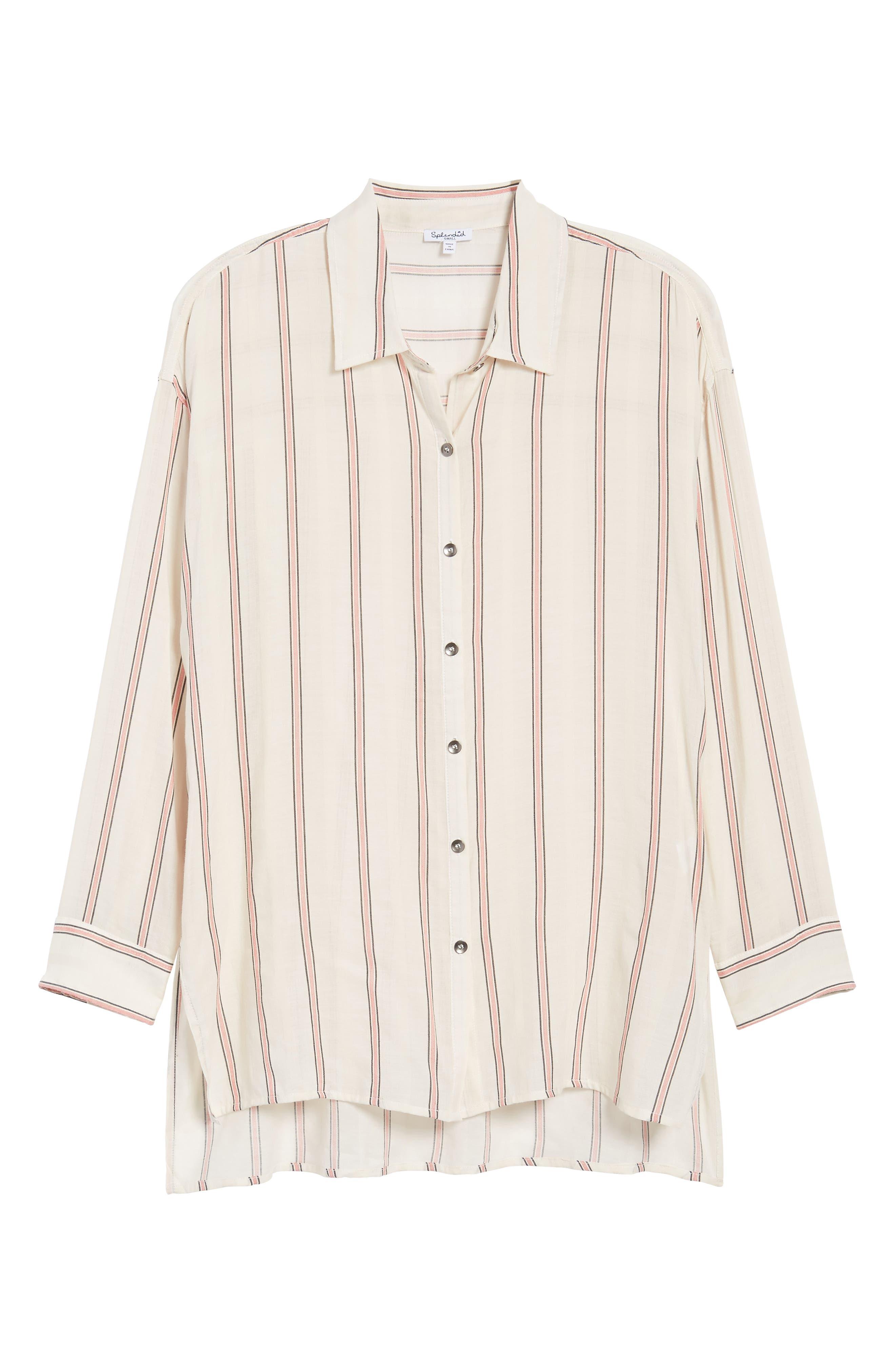 Stripe Woven Shirt,                             Alternate thumbnail 7, color,                             909