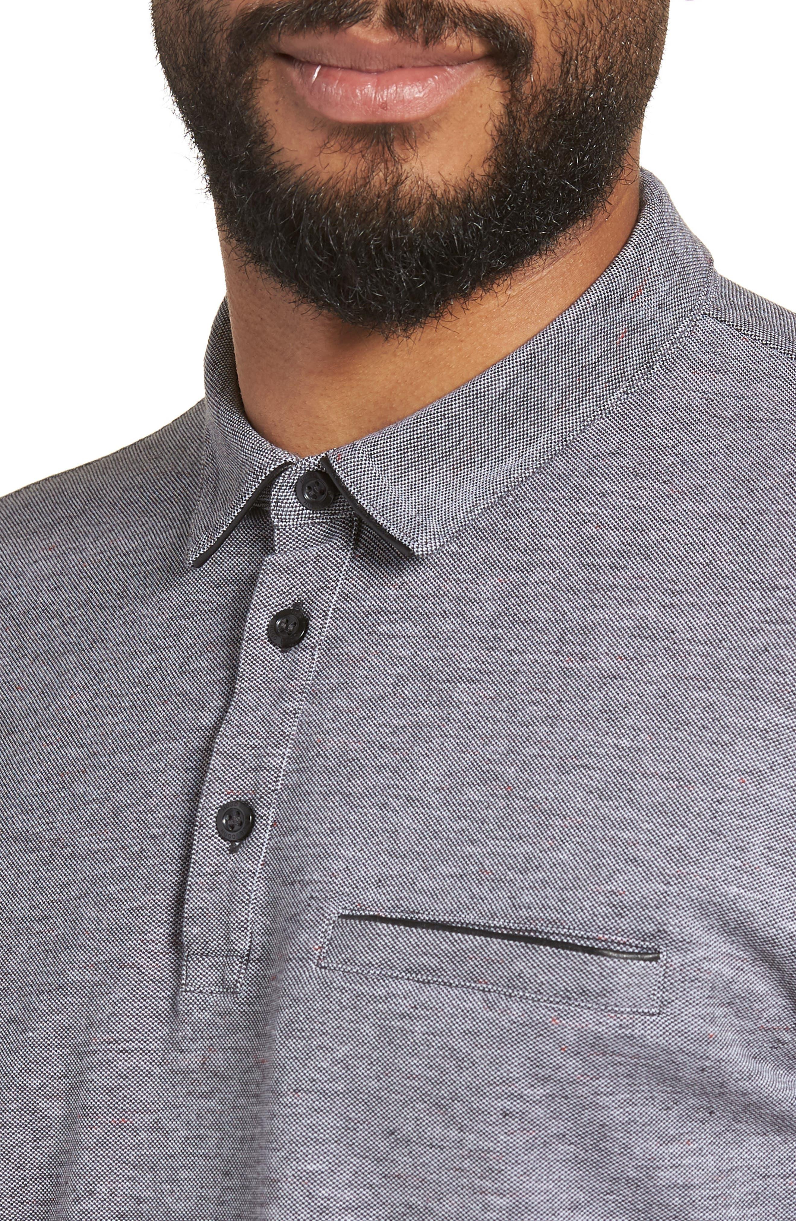 Darrow Cotton Polo Shirt,                             Alternate thumbnail 4, color,                             001