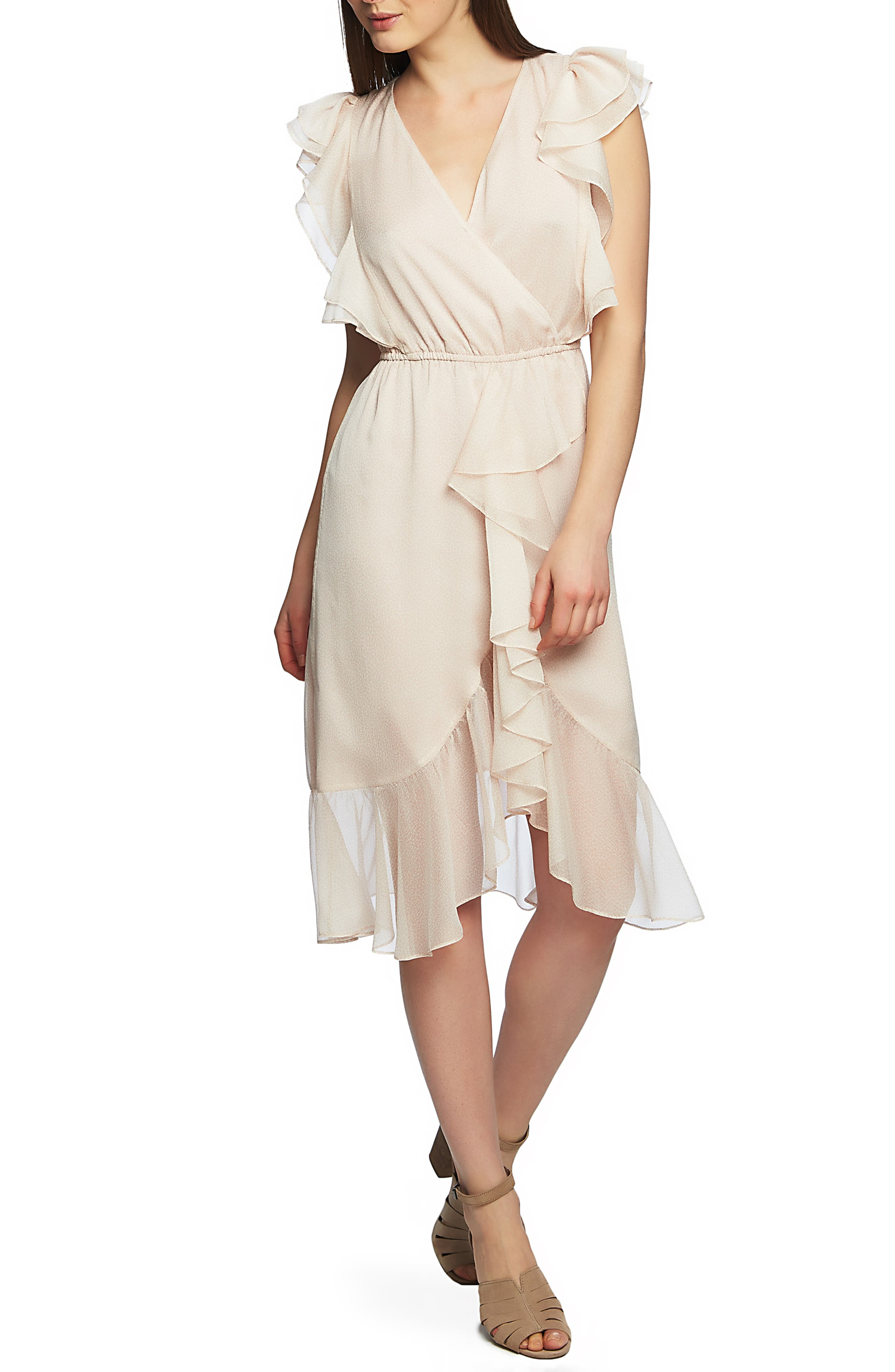 1.state Mosaic Ditsy High/low Dress, Pink