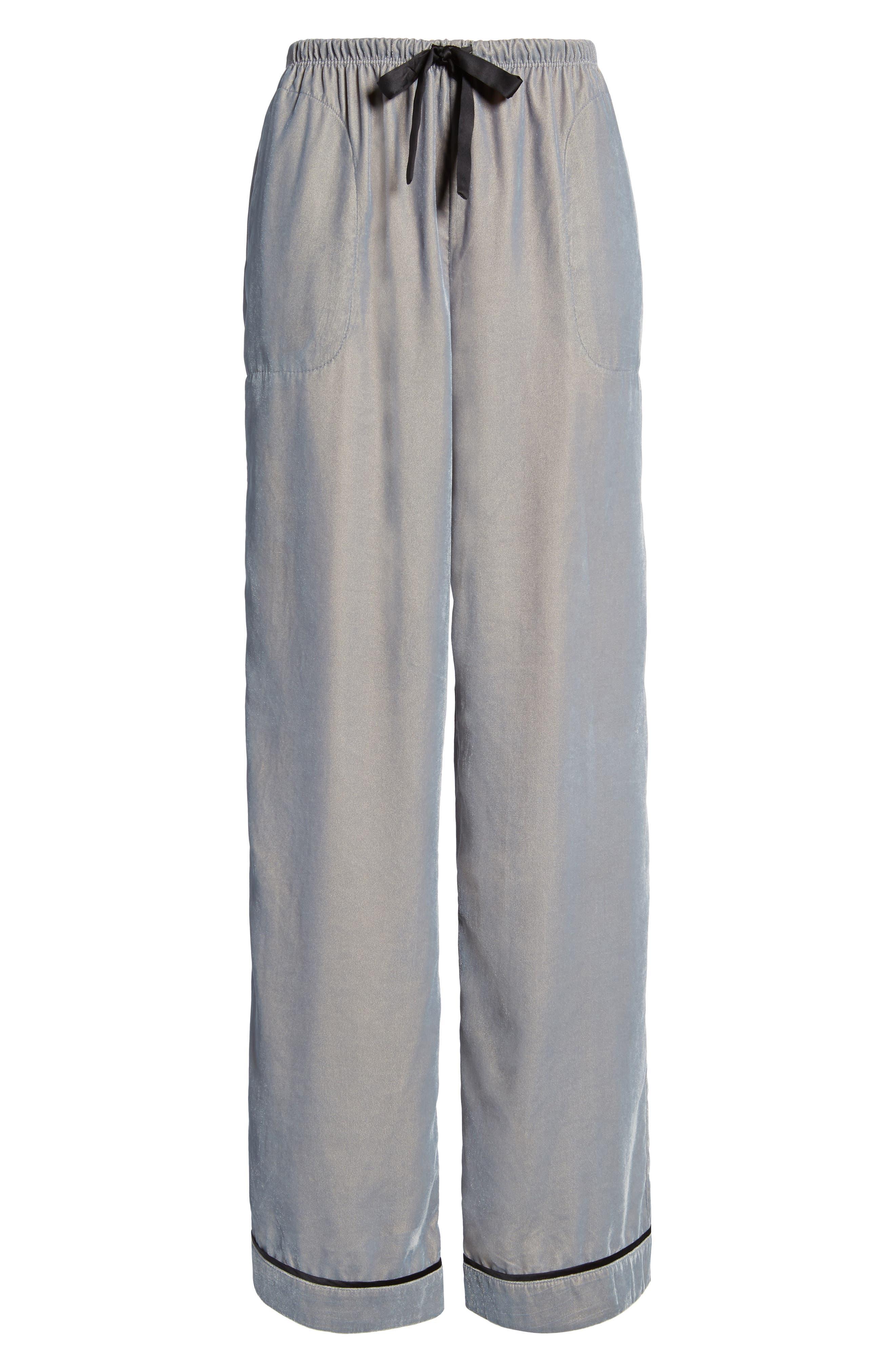 Velvet Pajama Pants,                             Alternate thumbnail 17, color,