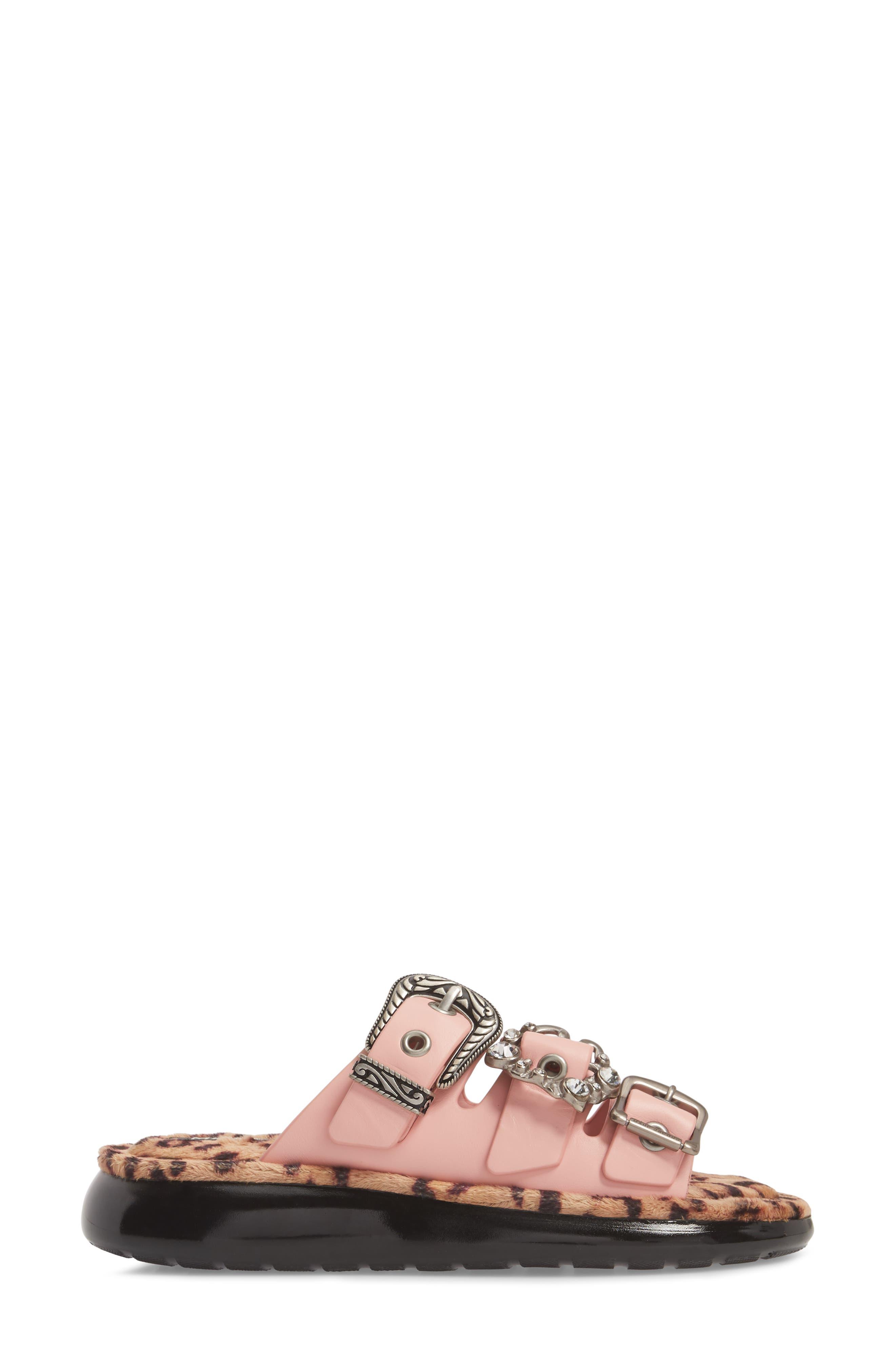 Emerson Faux Fur Sport Sandal,                             Alternate thumbnail 3, color,                             LIGHT PINK MULTI