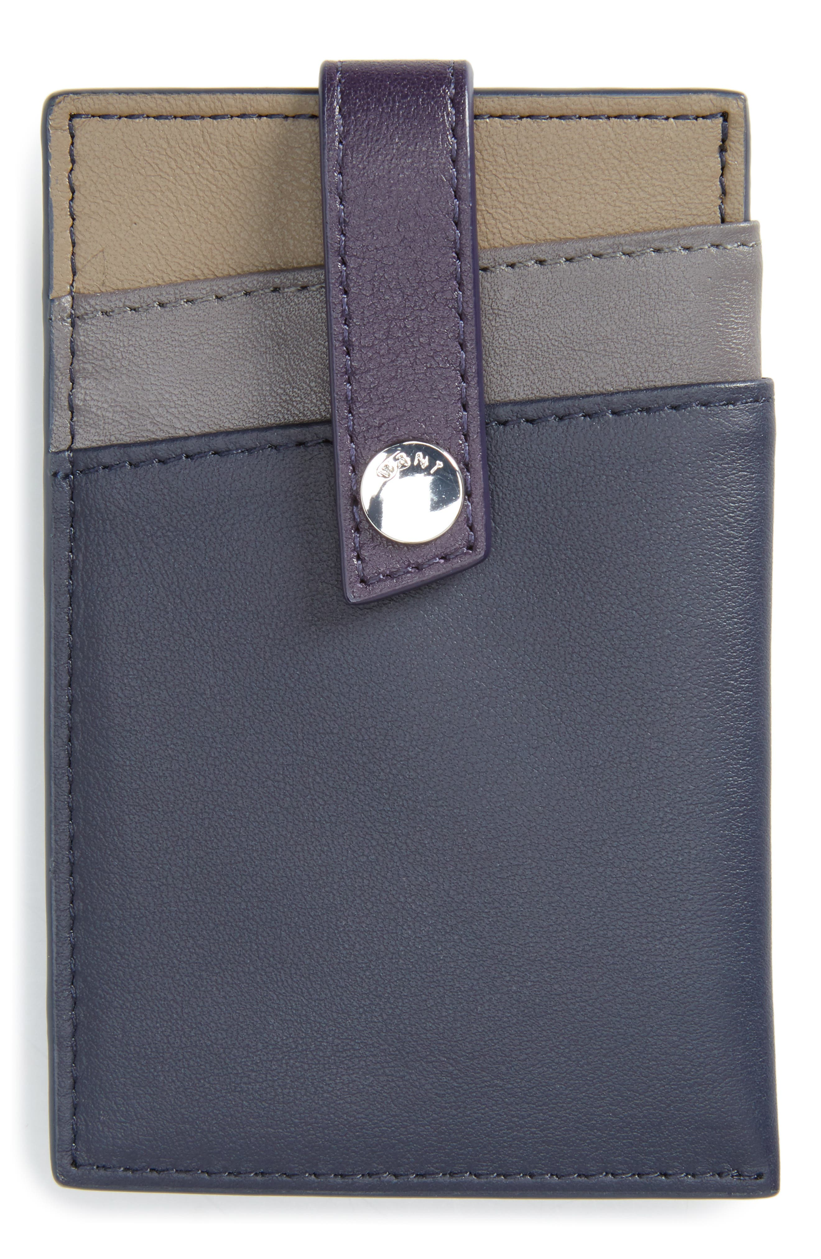 'Kennedy' Leather Money Clip Card Case,                             Main thumbnail 2, color,