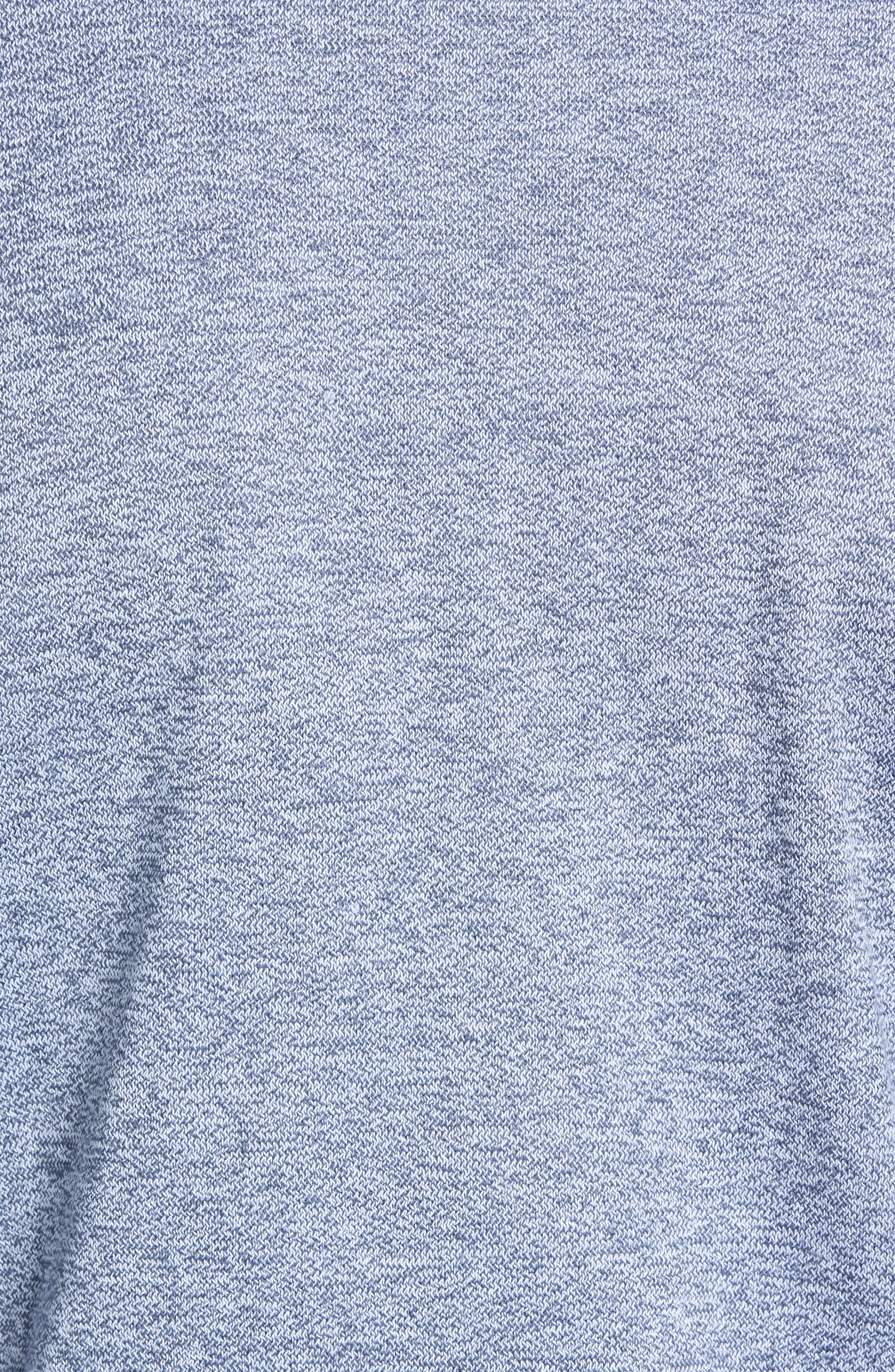 Double Knit Henley,                             Alternate thumbnail 5, color,                             NAVY ARMADA MARL