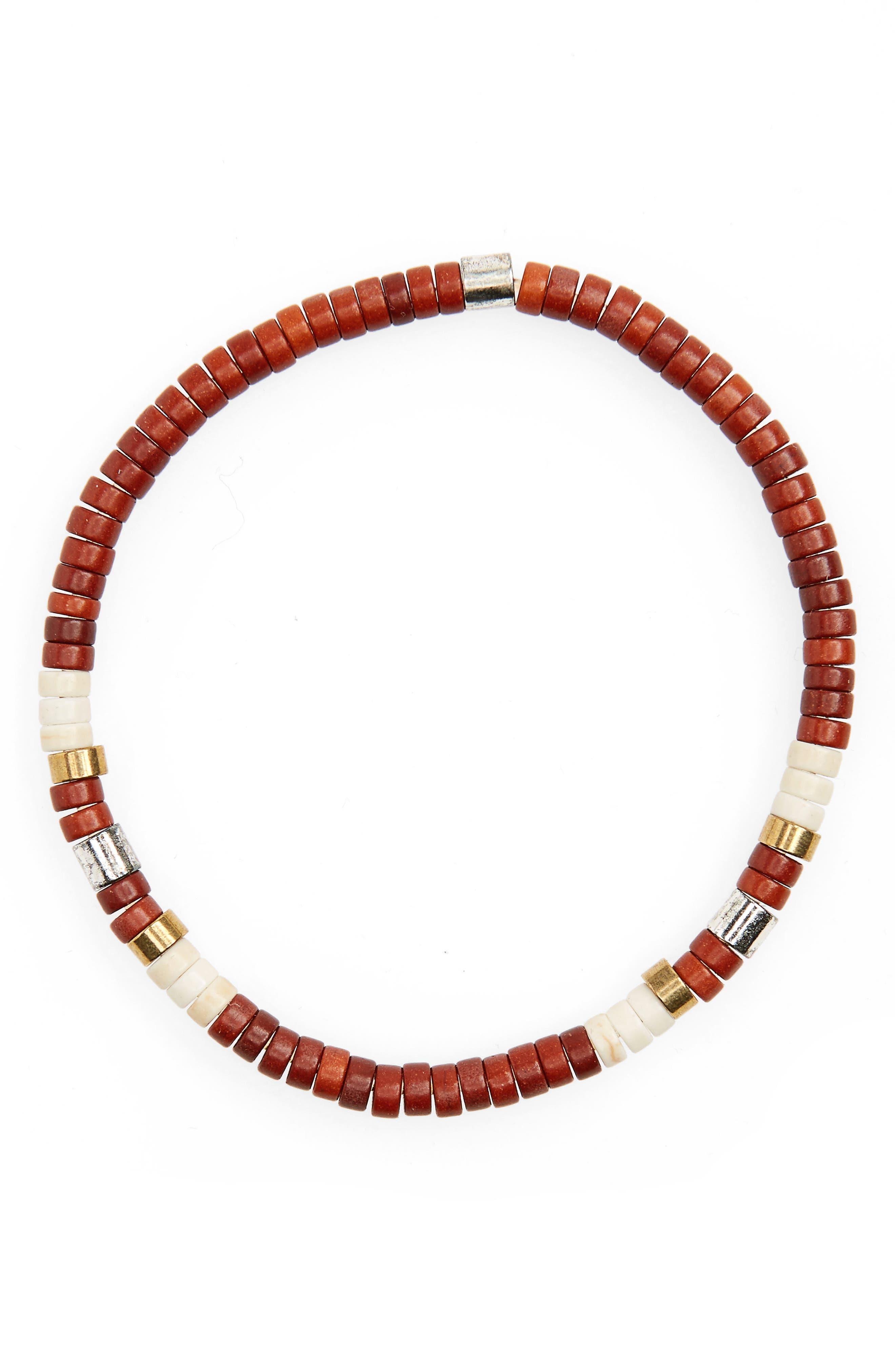 Shell Bead Bracelet,                             Main thumbnail 3, color,