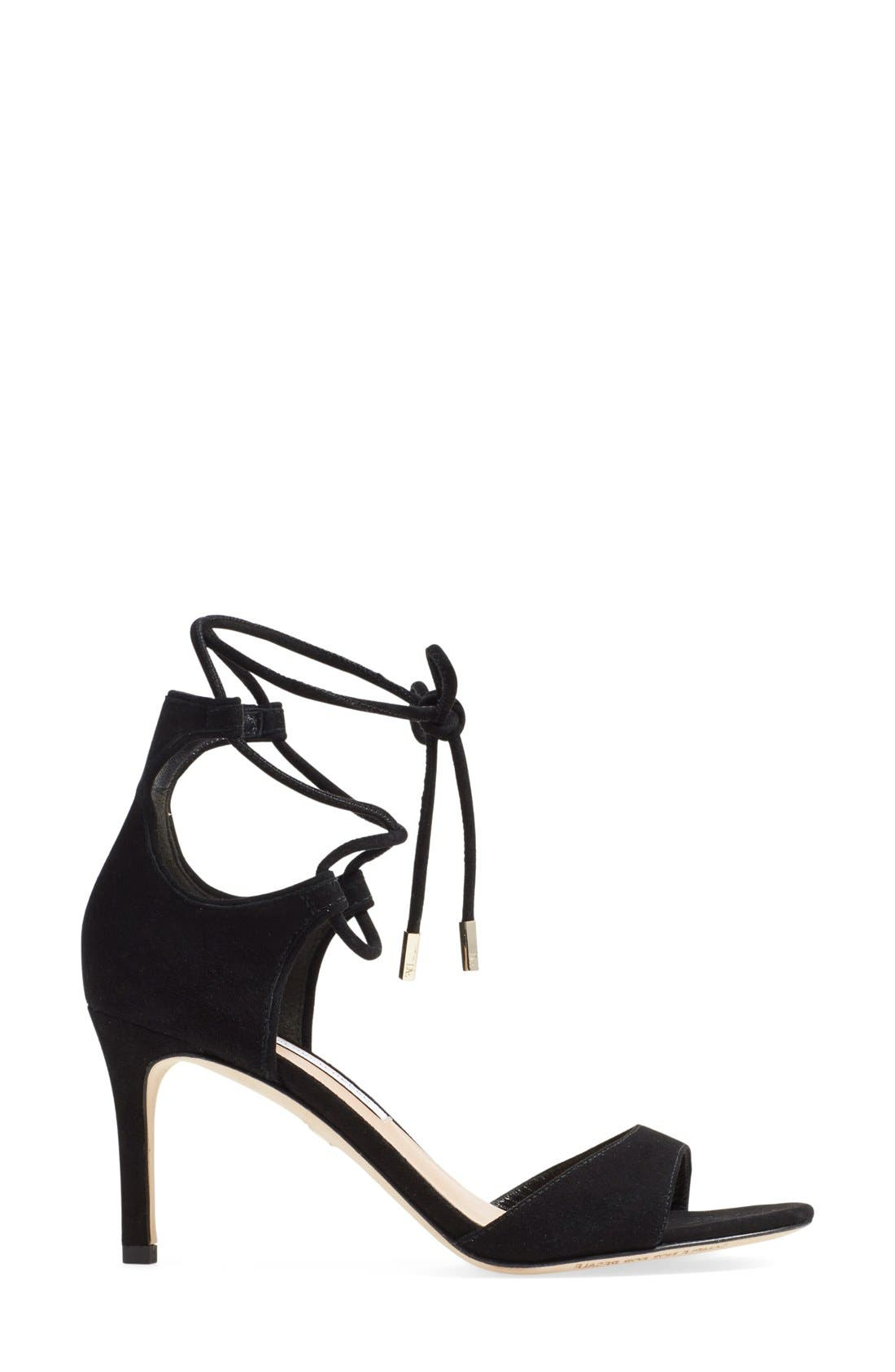 'Rimini' Ankle Wrap Sandal,                             Alternate thumbnail 4, color,                             001