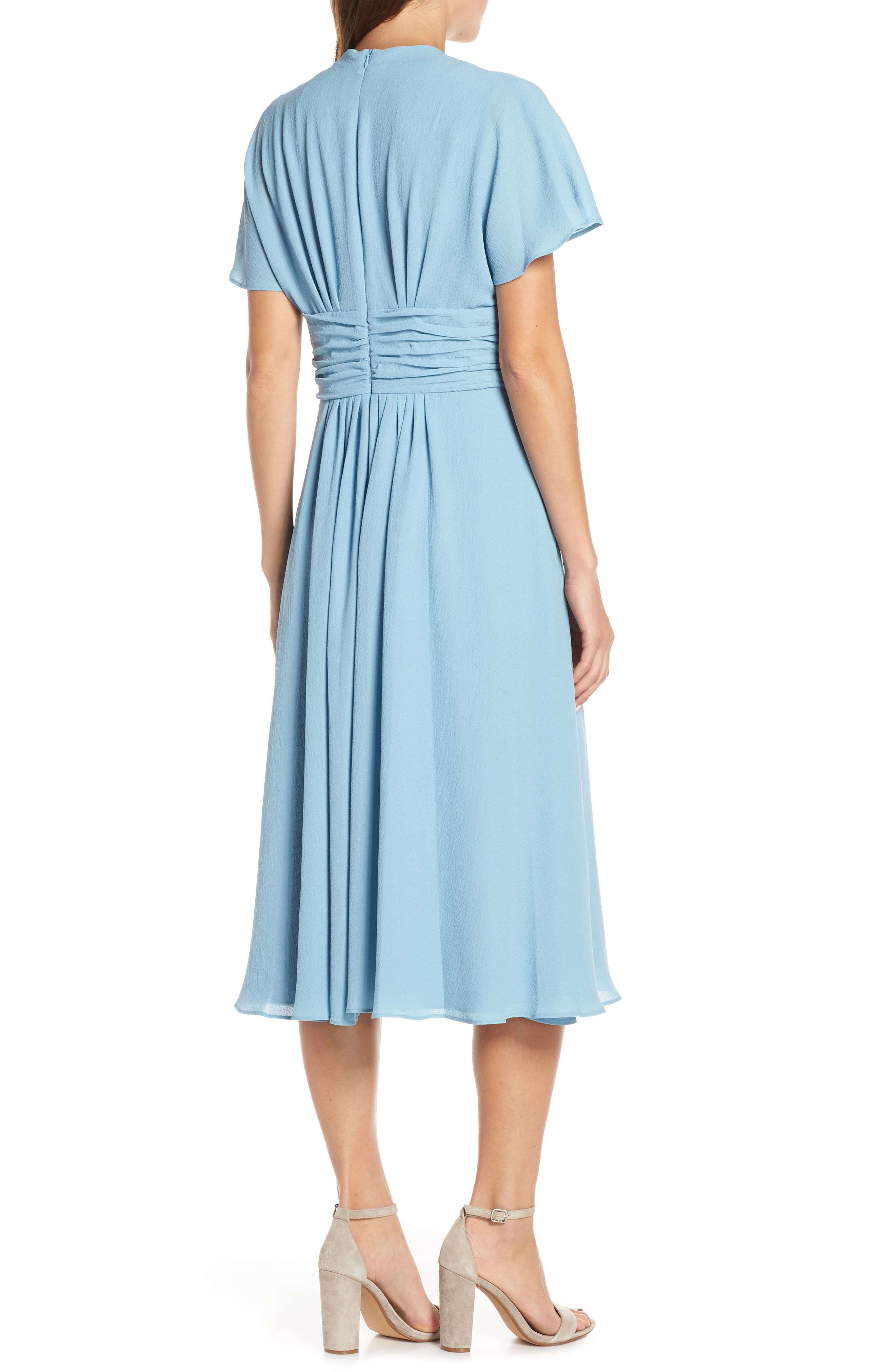 GAL MEETS GLAM COLLECTION,                             Jane Tie Waist Midi Dress,                             Alternate thumbnail 2, color,                             STEEL BLUE