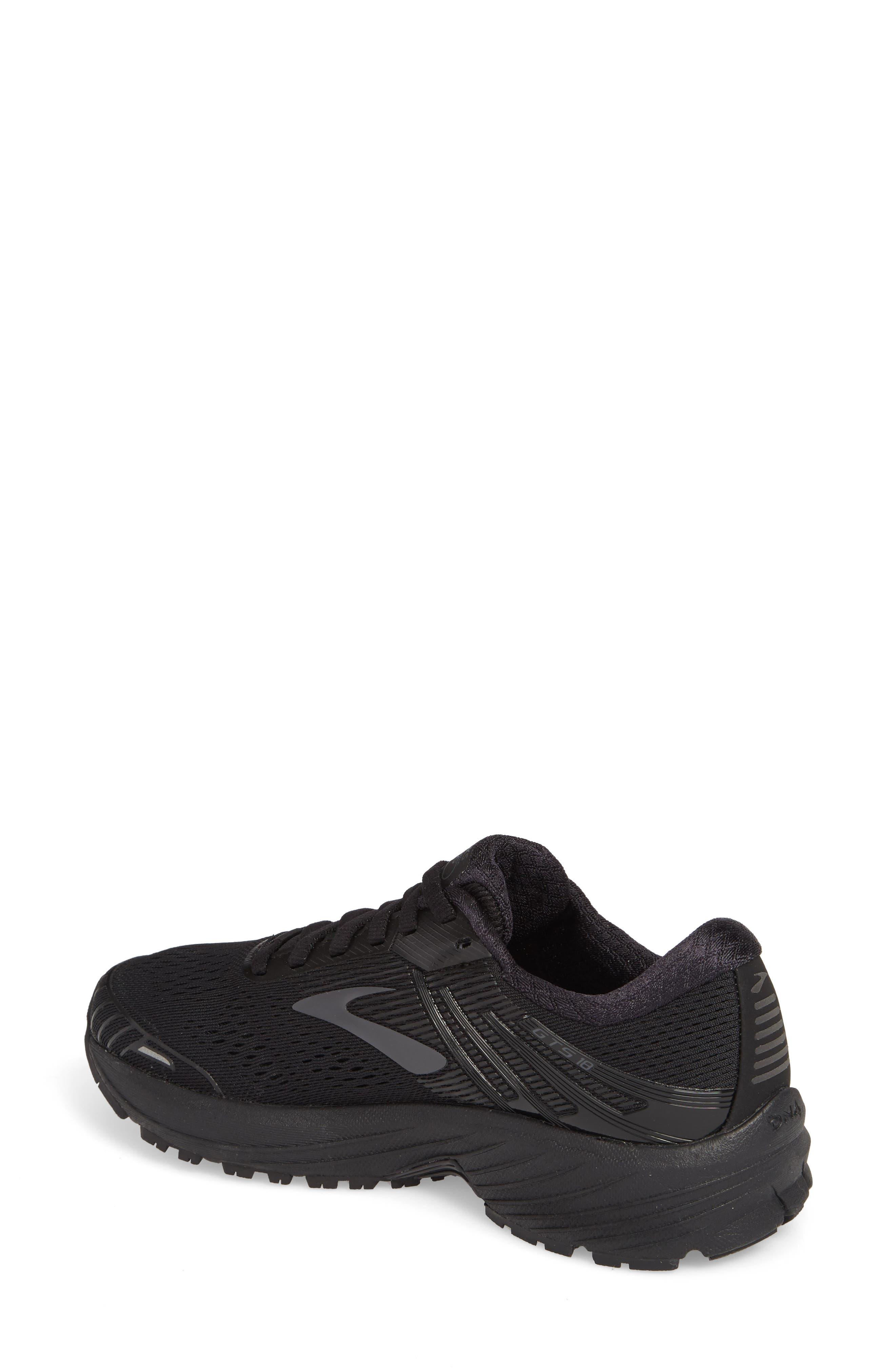Adrenaline GTS 18 Running Shoe,                             Alternate thumbnail 2, color,                             BLACK/ BLACK