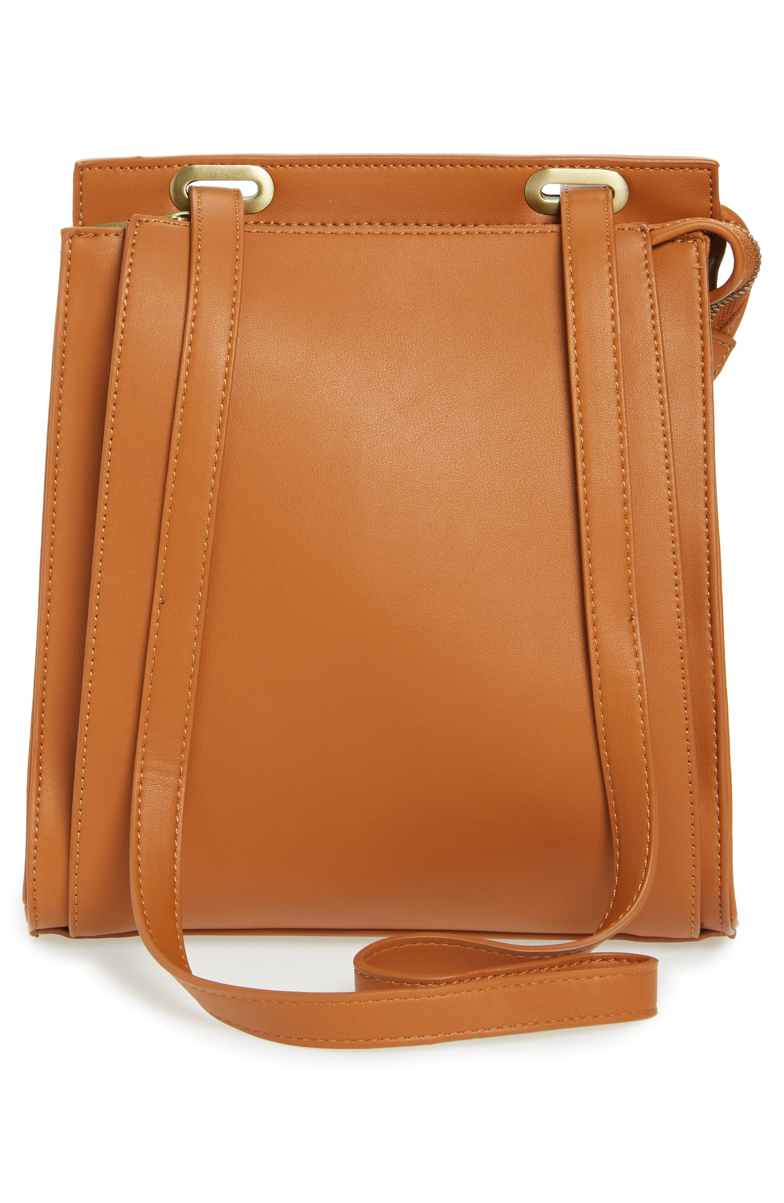 Faux Leather Convertible Backpack,                             Alternate thumbnail 6, color,