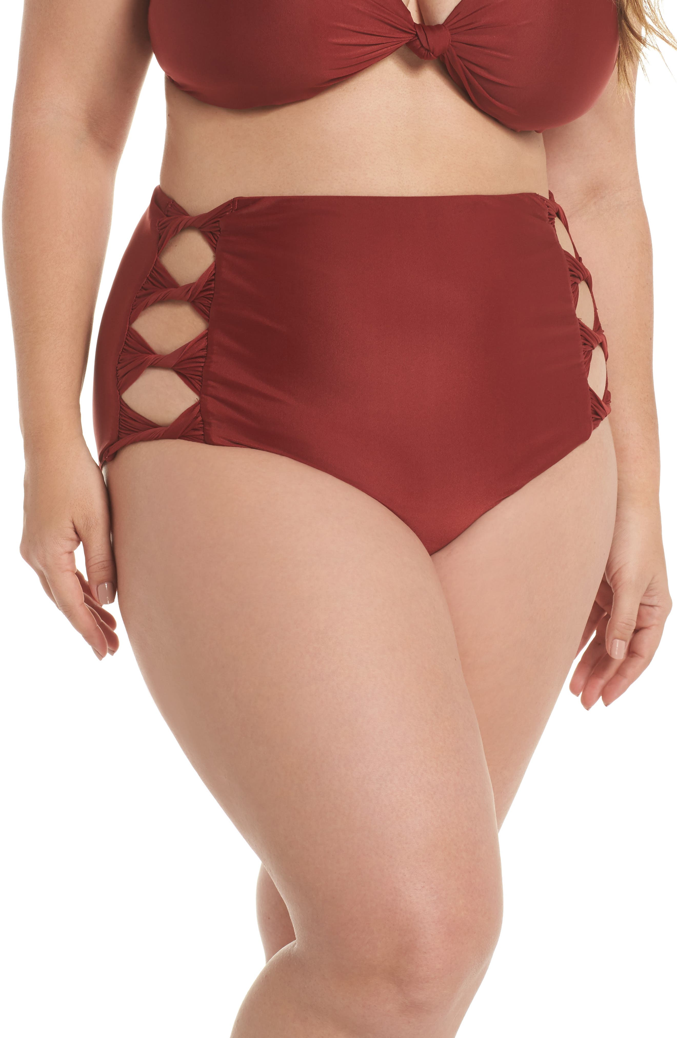 Love Letters High Waist Bikini Bottoms,                             Main thumbnail 1, color,                             930