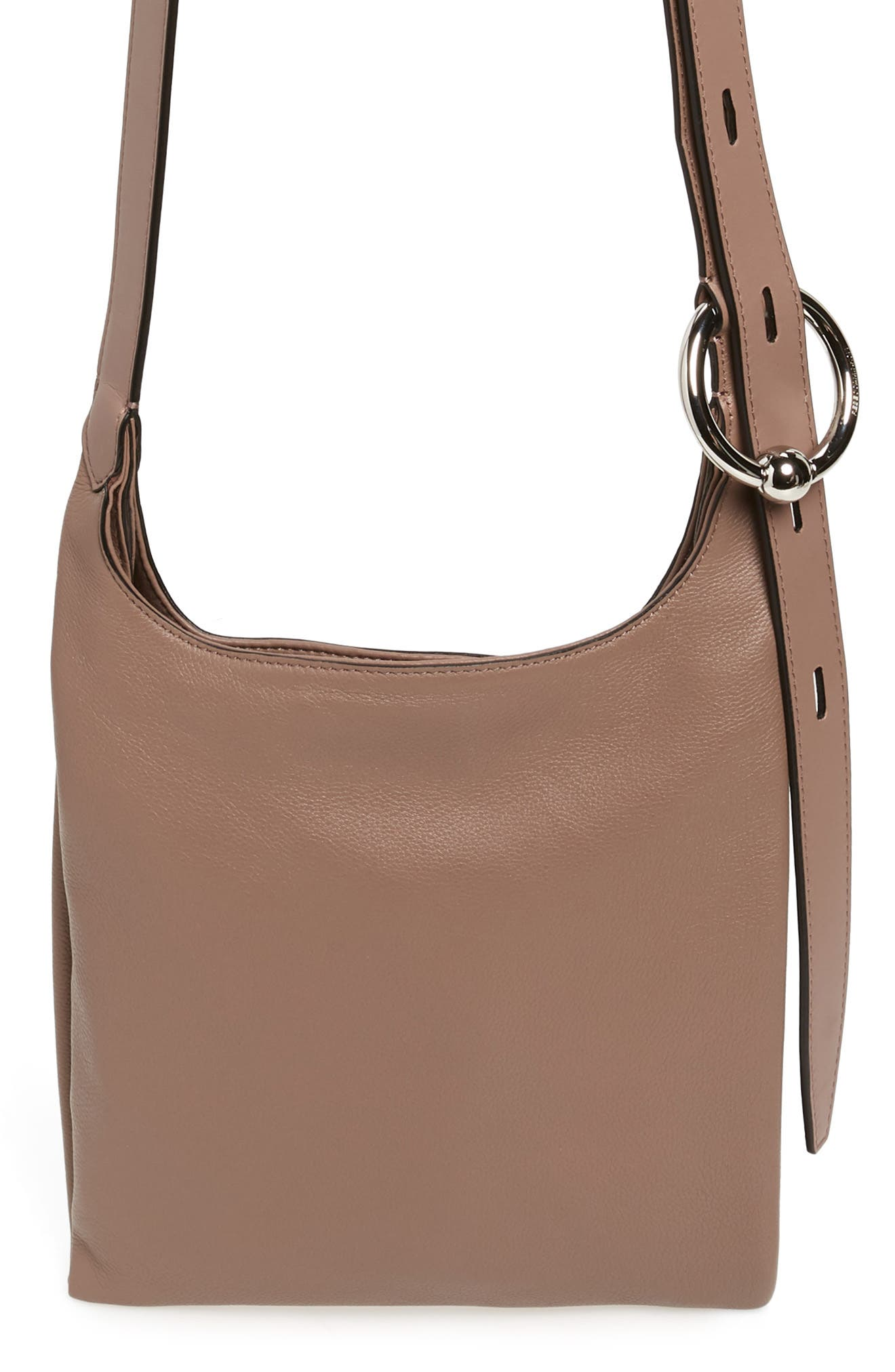 Small Karlie Leather Feed Bag - Brown in Mink