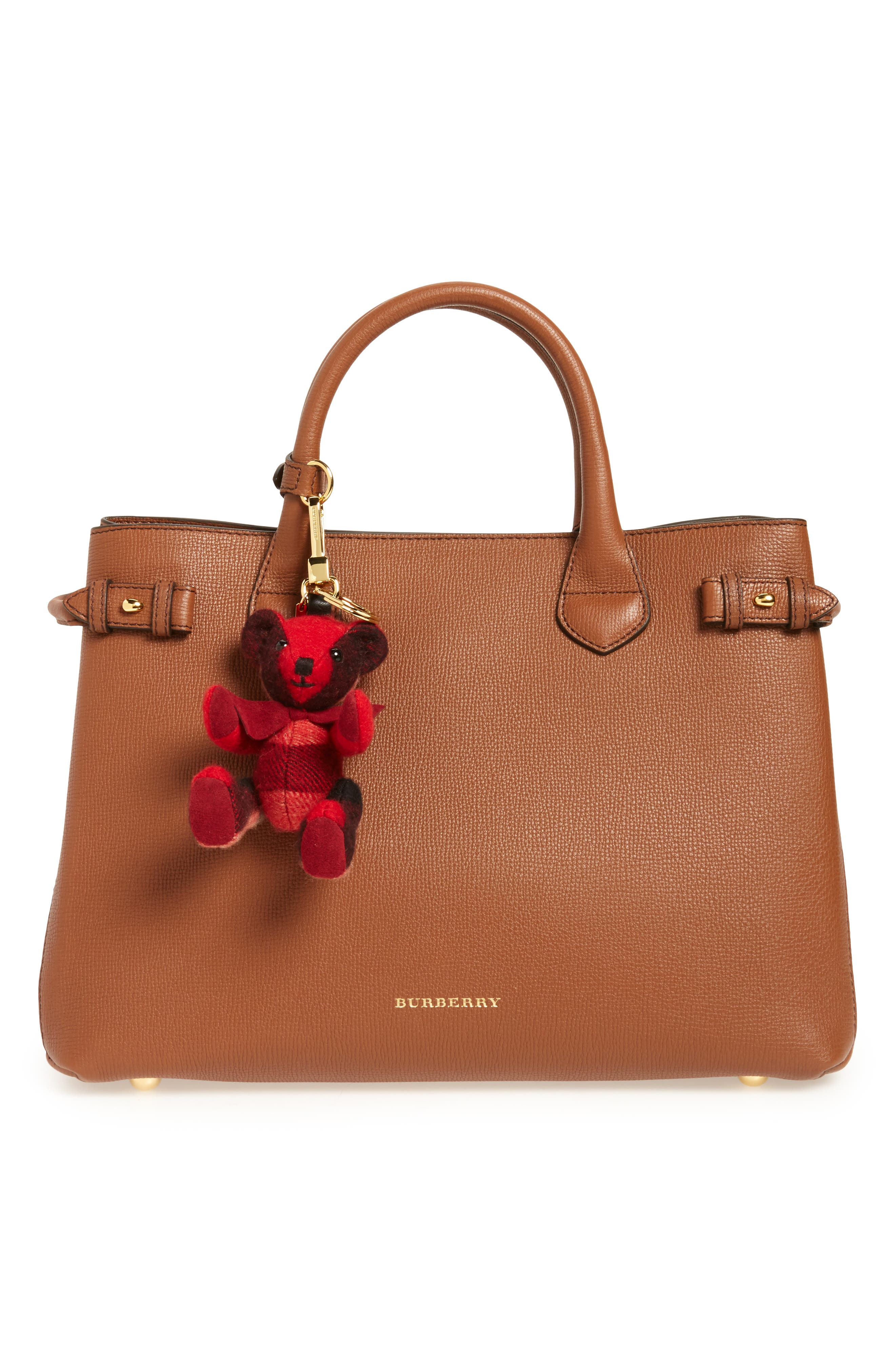 Thomas Bear Check Cashmere Bag Charm,                             Alternate thumbnail 3, color,                             604