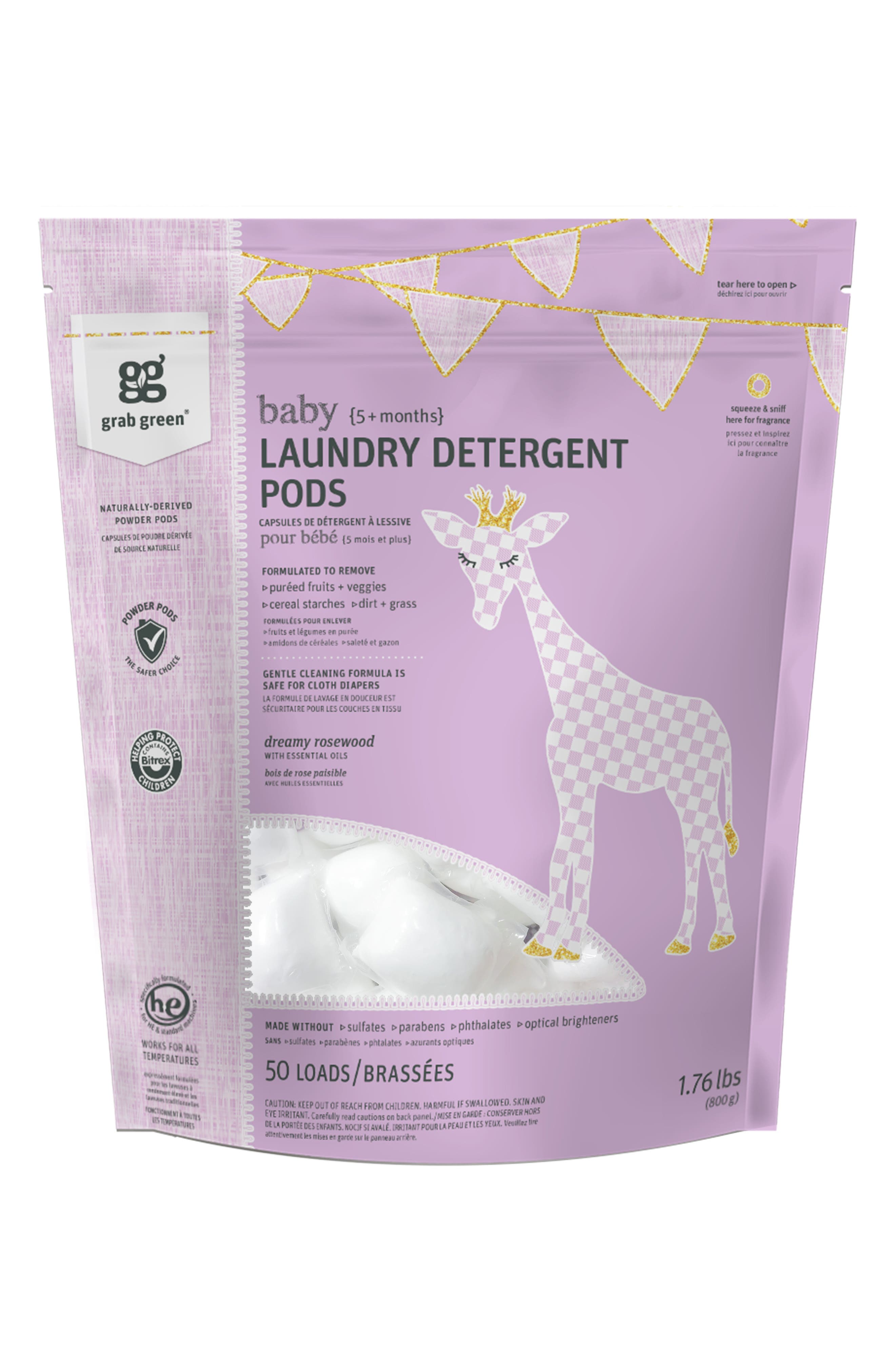 Grab Green Dreamy Rosewood Baby Laundry Pods  Dryer Sheets