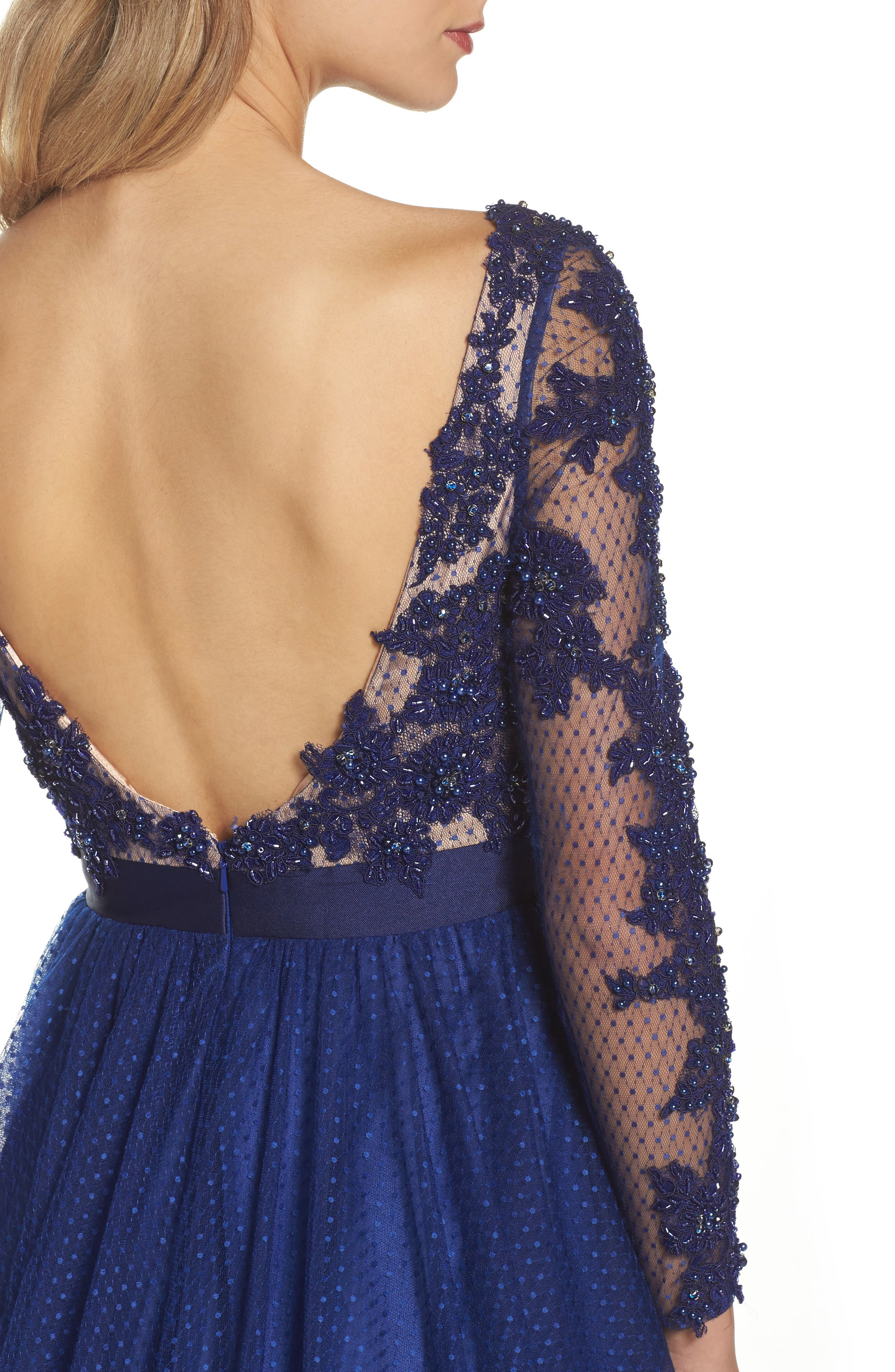 Beaded Bodice Gown,                             Alternate thumbnail 8, color,