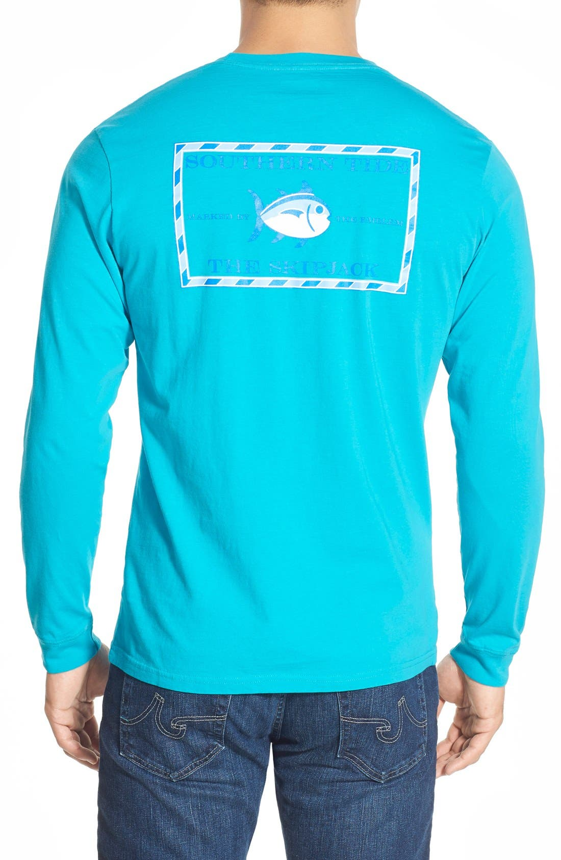 'Skipjack'Long Sleeve Graphic T-Shirt,                             Main thumbnail 6, color,