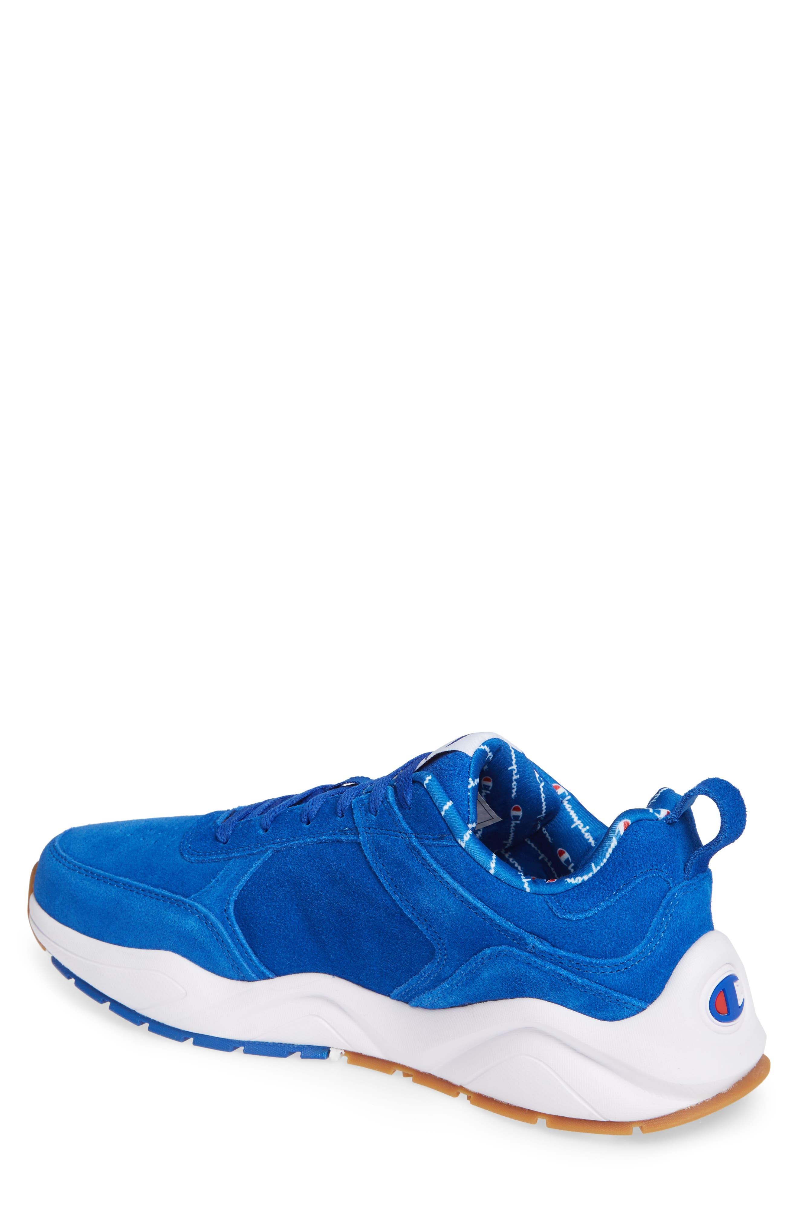 93Eighteen Sneaker,                             Alternate thumbnail 2, color,                             BLUE SUEDE