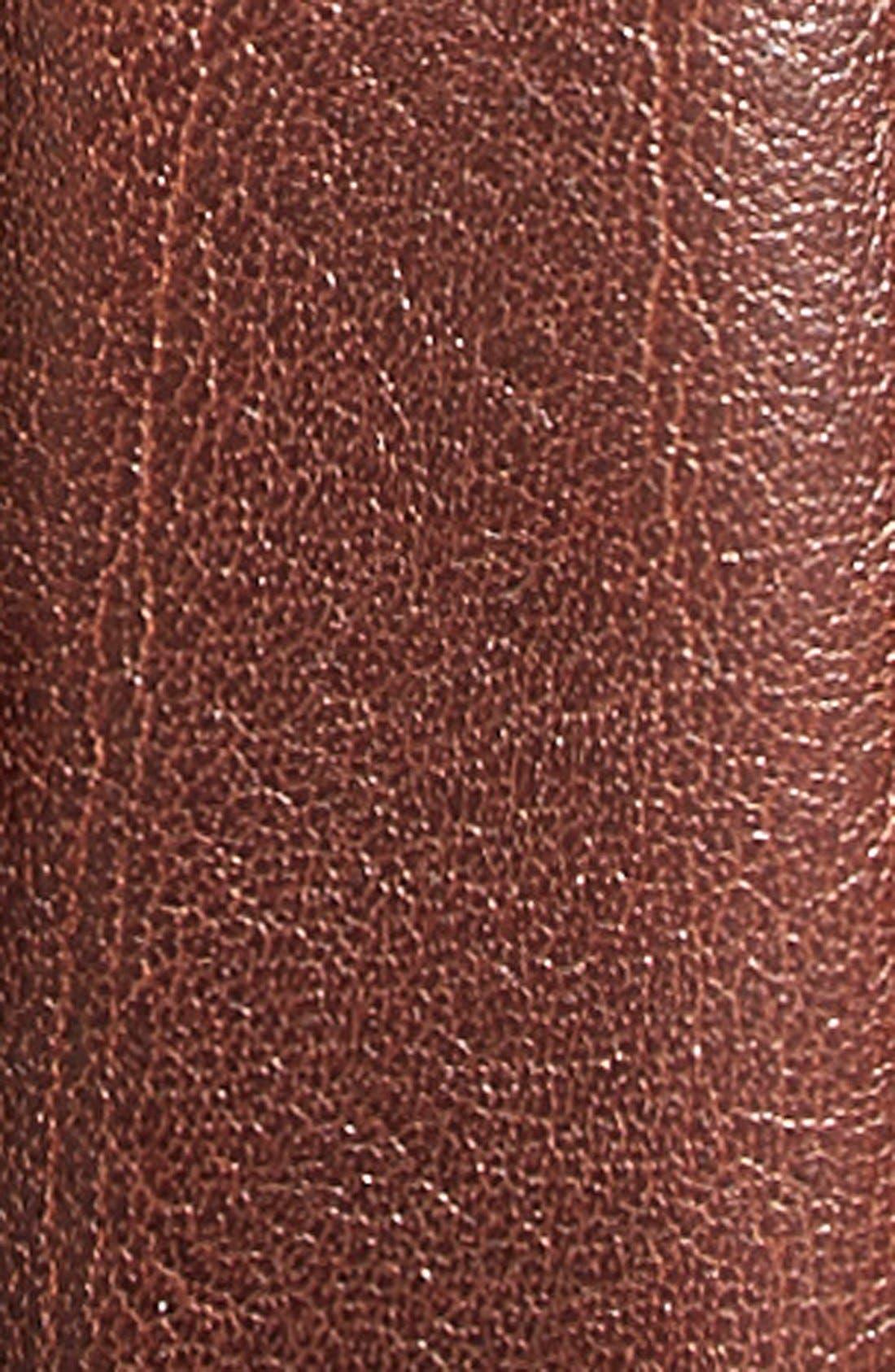 Burnished Leather Belt,                             Alternate thumbnail 3, color,                             BROWN
