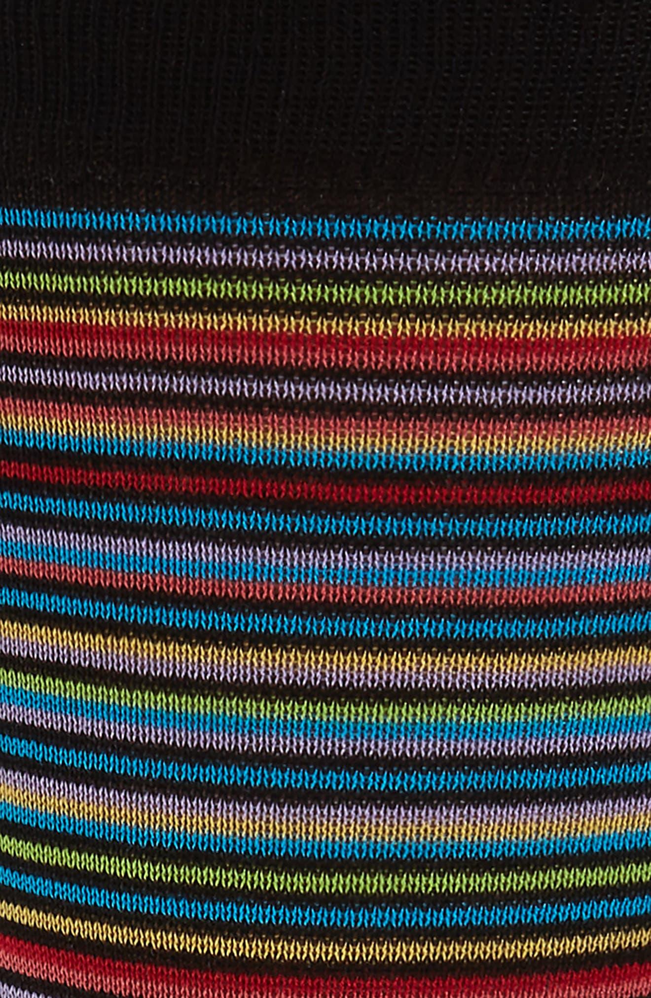 Stripe Mercerized Cotton Blend Socks,                             Alternate thumbnail 2, color,                             002
