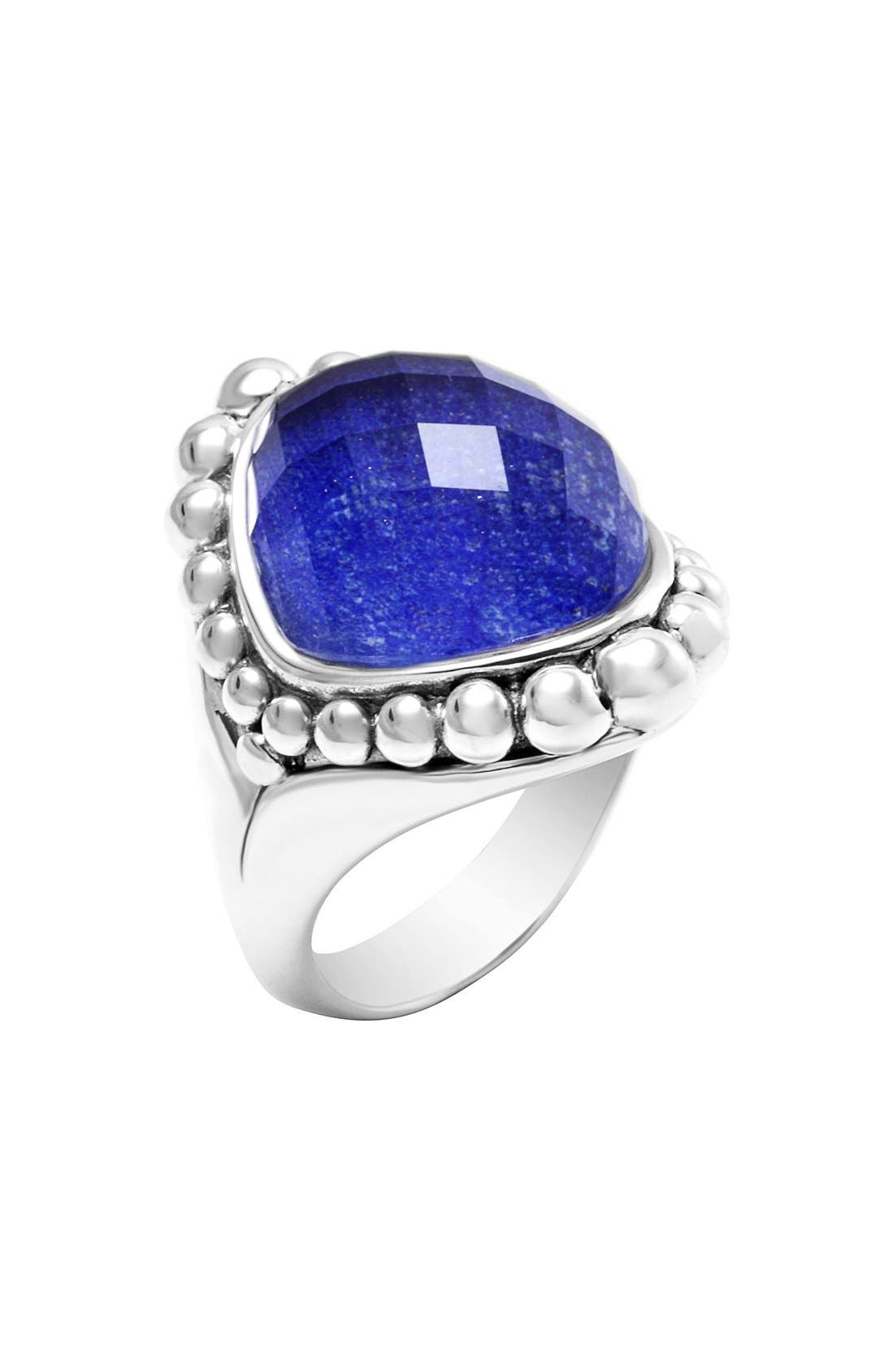 Maya Stone Ring,                             Main thumbnail 1, color,                             LAPIS