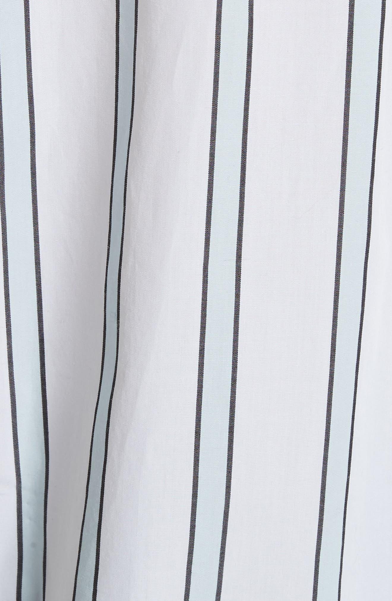 Huntley Stripe Cotton Shirt,                             Alternate thumbnail 5, color,                             157