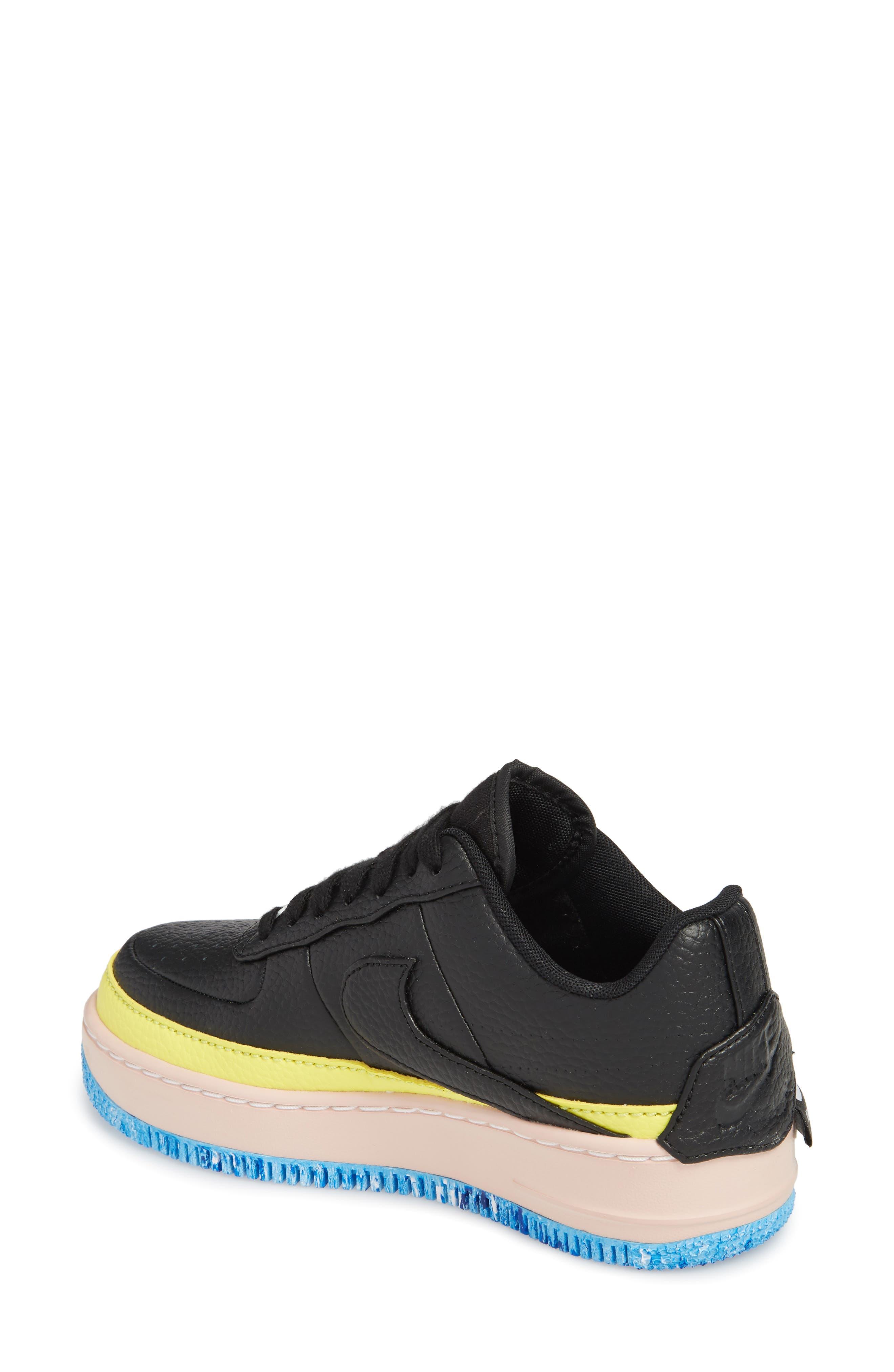 Air Force 1 Jester XX Sneaker,                             Alternate thumbnail 2, color,                             BLACK/ SONIC YELLOW/ ORANGE
