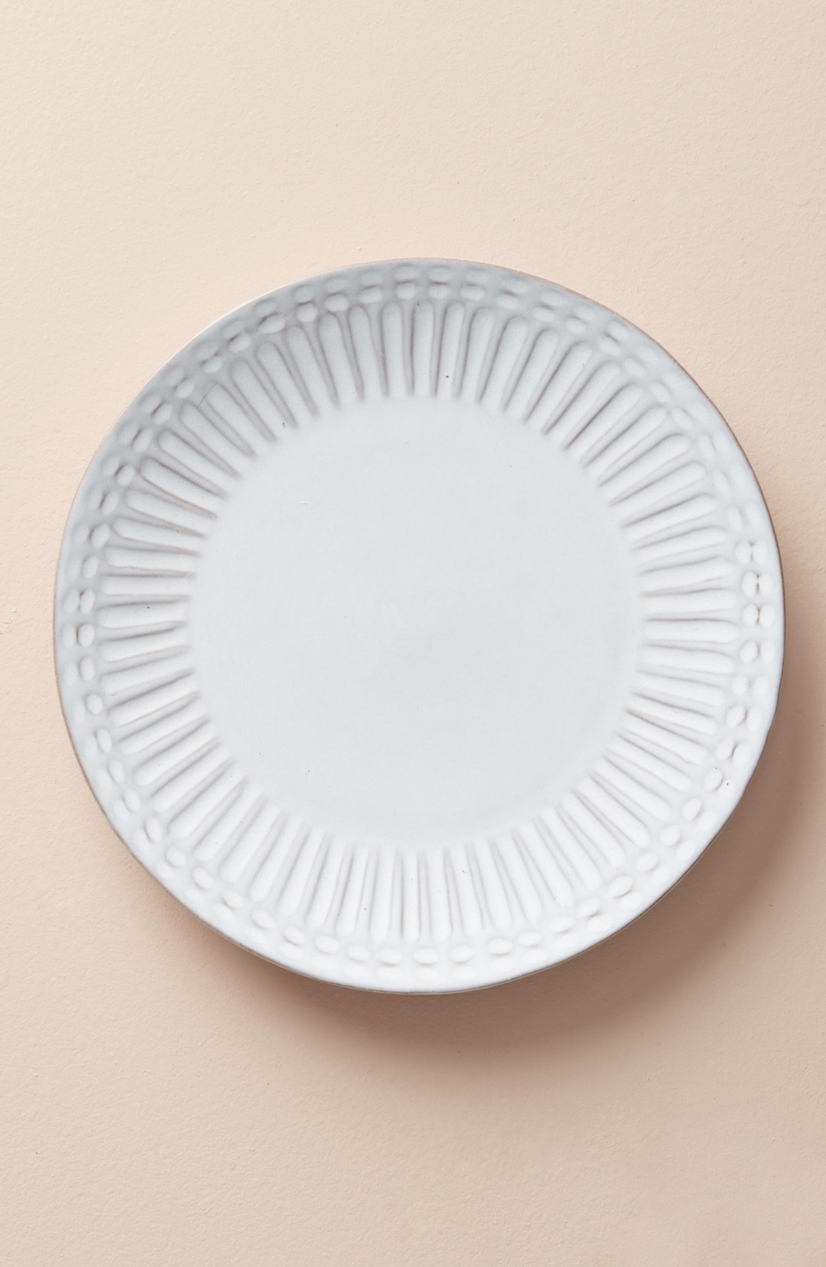 anthropologie elana side plate, size one size - white