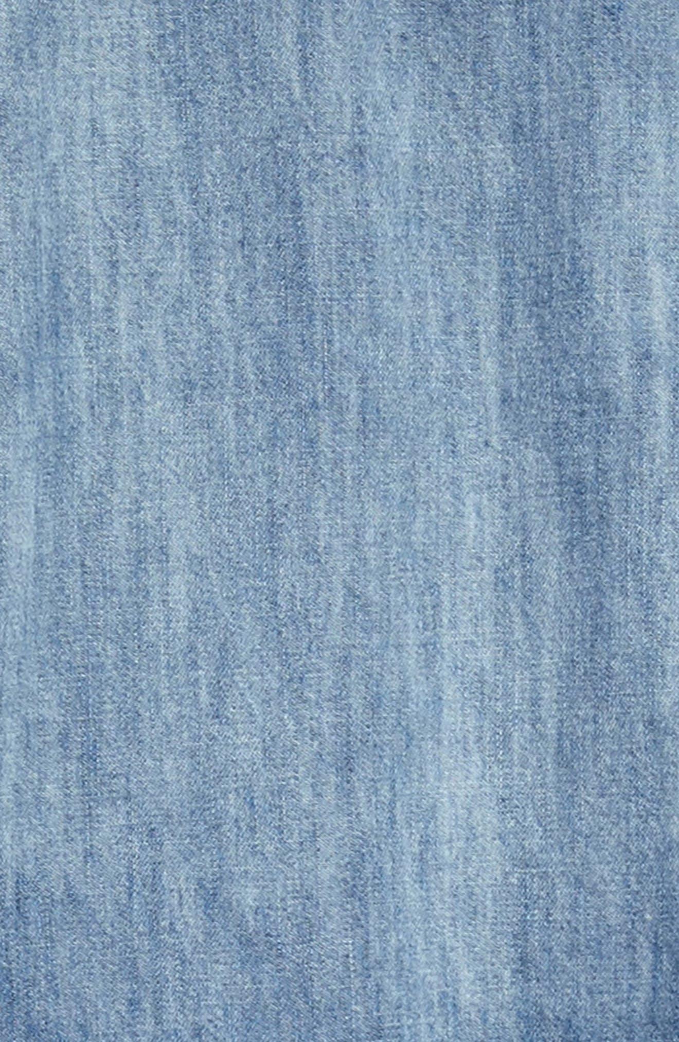 Dip Dye Chambray Dress,                             Alternate thumbnail 3, color,                             491