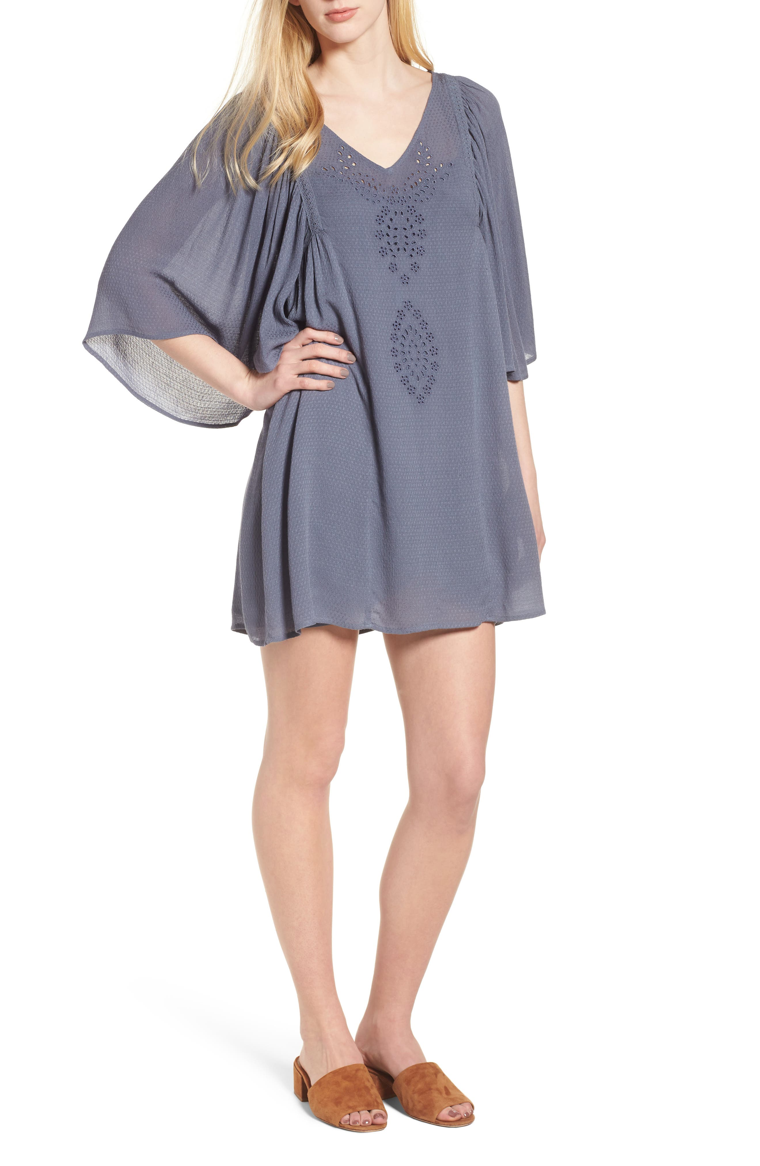 Embroidered Dress,                         Main,                         color, 020