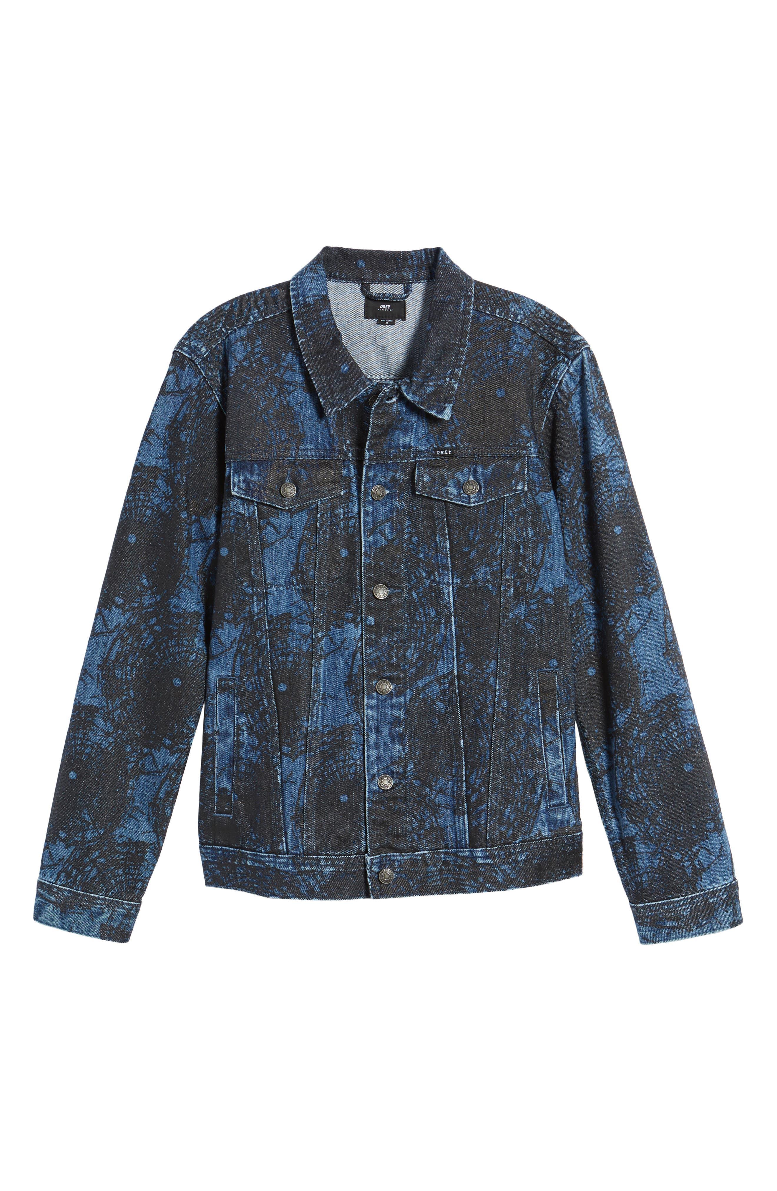 Shattered Denim Jacket,                             Alternate thumbnail 5, color,                             002