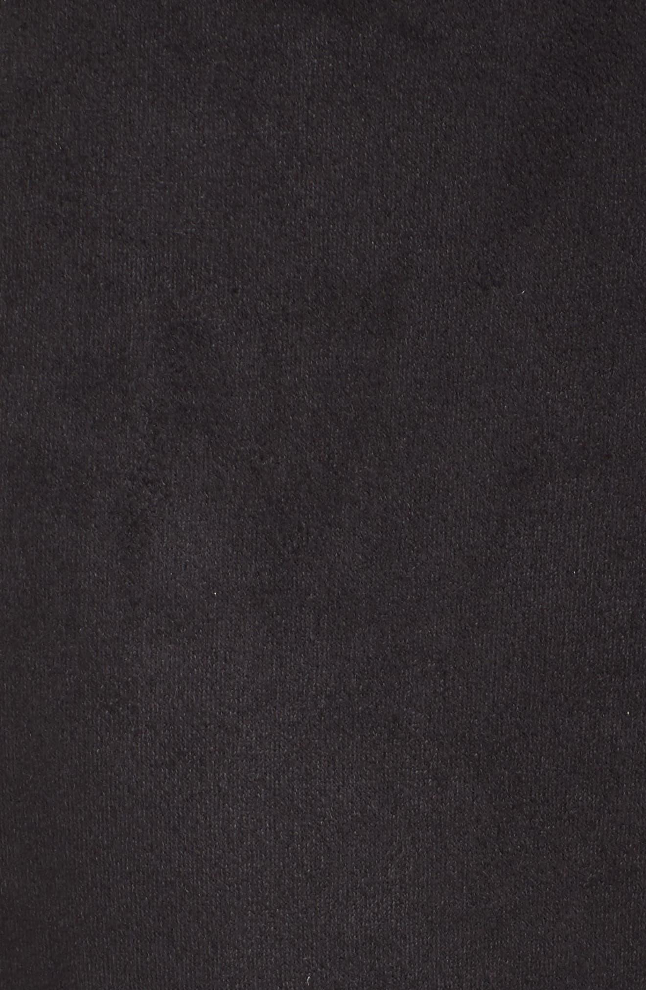 Waist Tie Skimmer Leggings,                             Alternate thumbnail 5, color,                             BLACK
