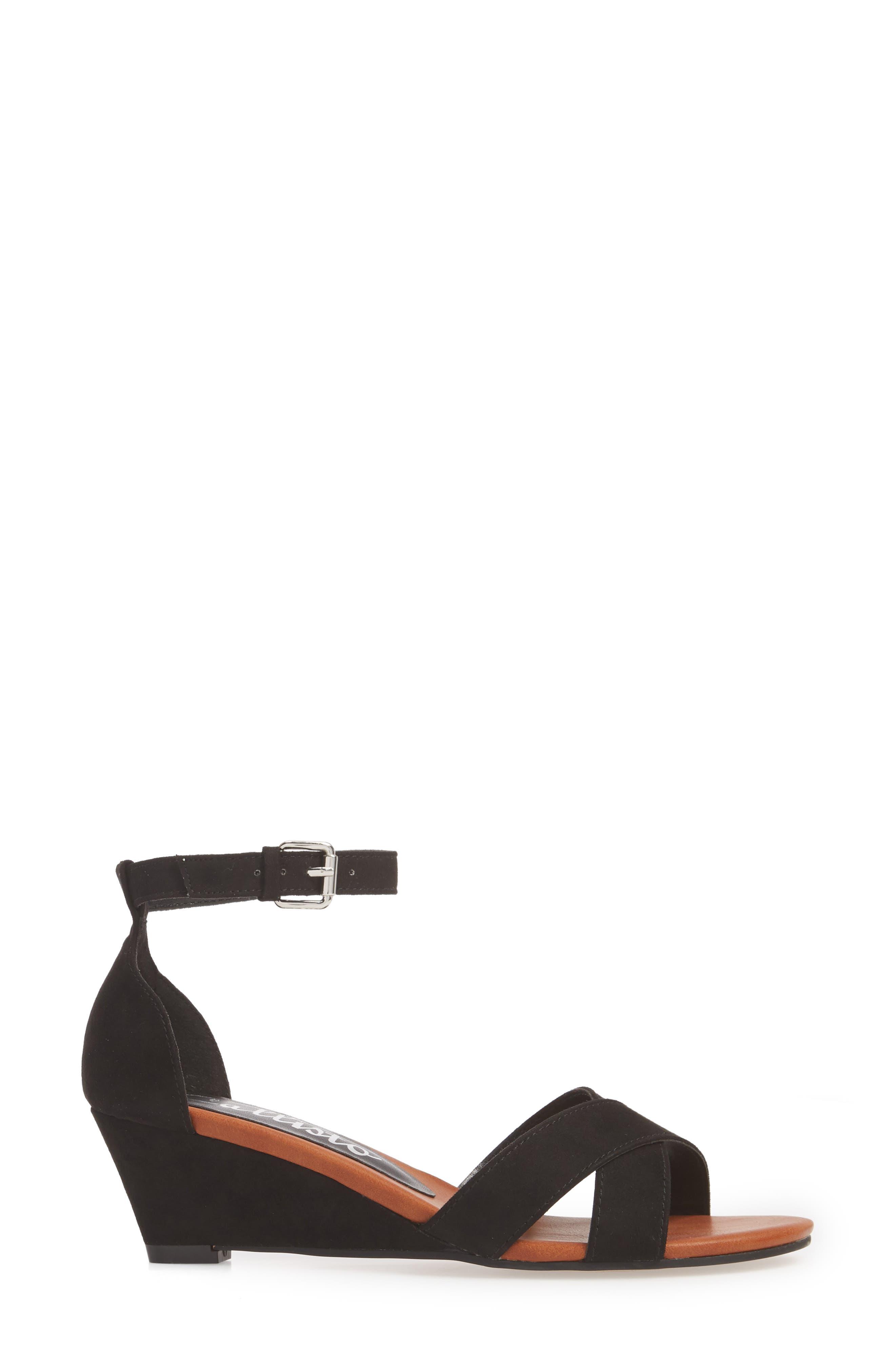 Strobe Wedge Sandal,                             Alternate thumbnail 3, color,                             003