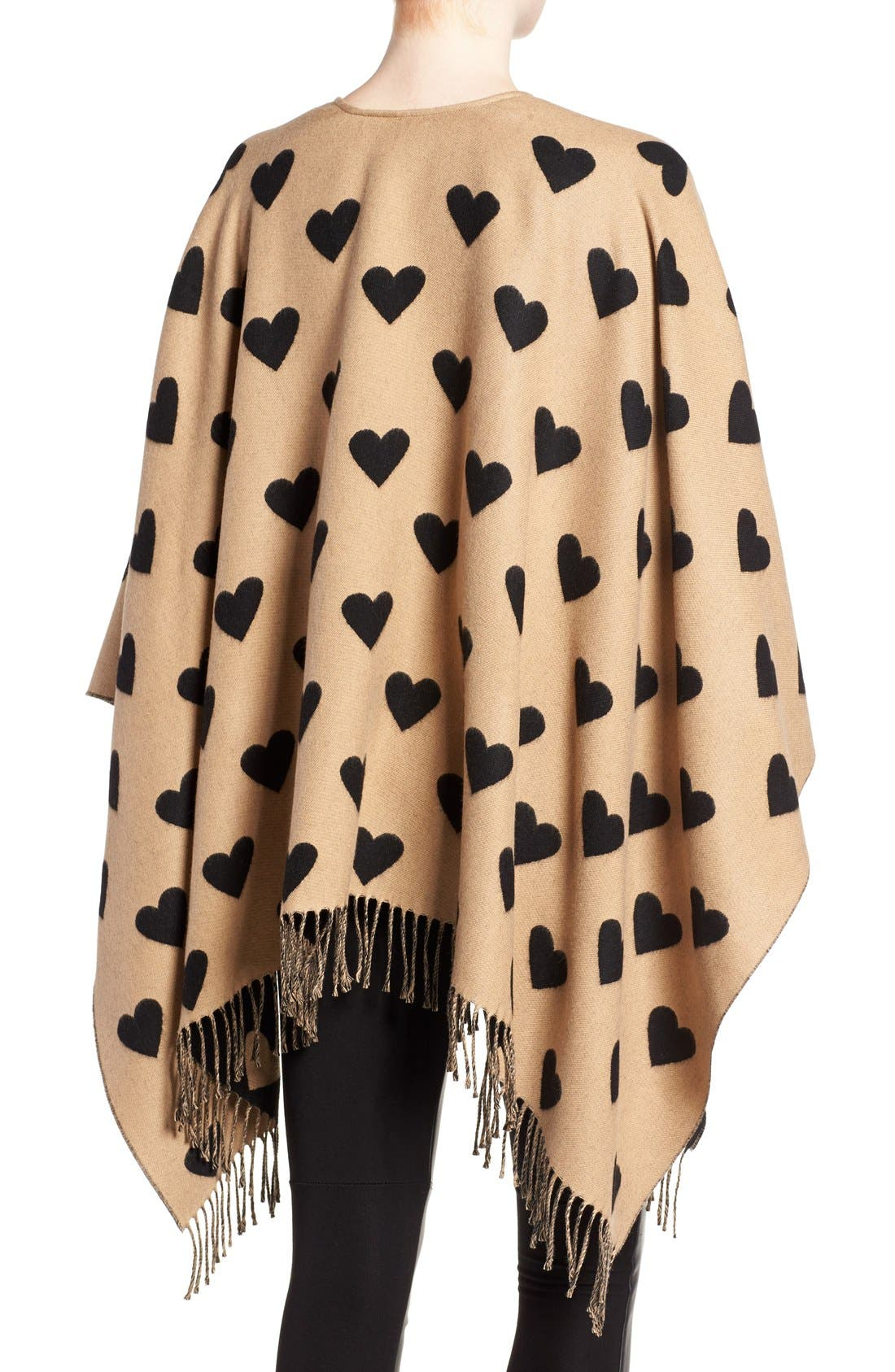 'Collette' Heart Print Wool Scarf,                             Alternate thumbnail 4, color,                             200