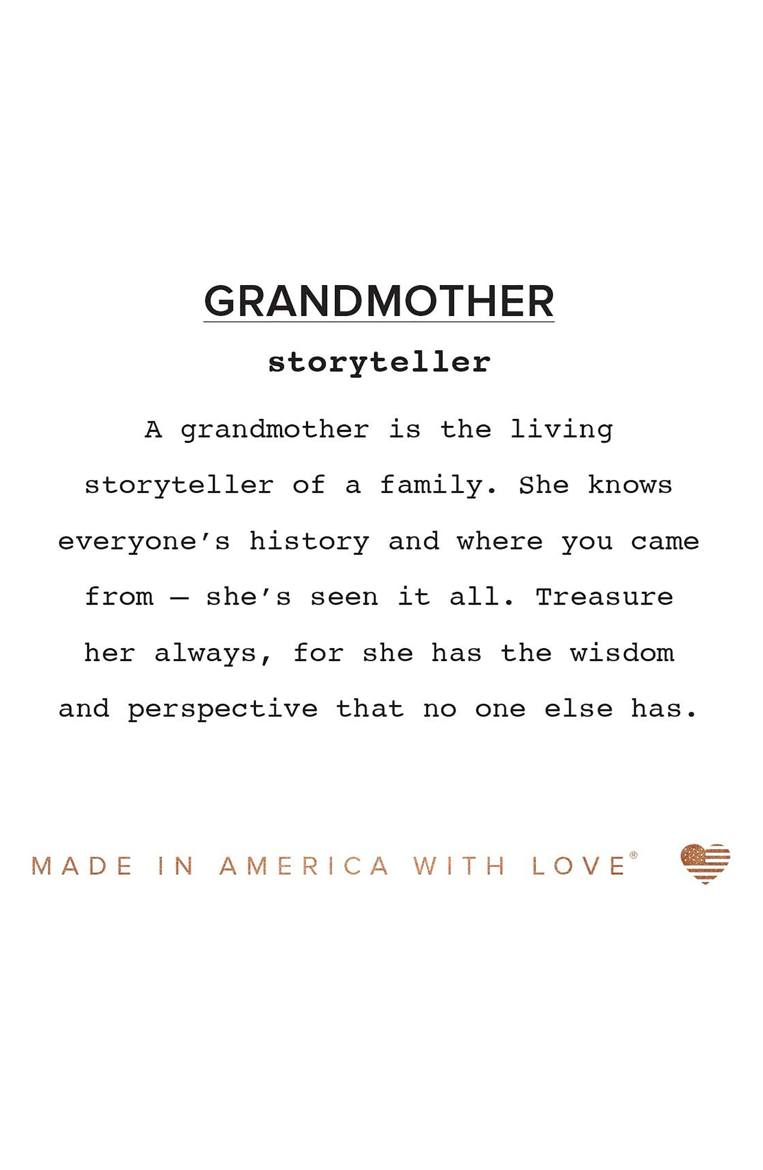 Because I Love You Grandmother Charm Bangle,                             Alternate thumbnail 2, color,                             040