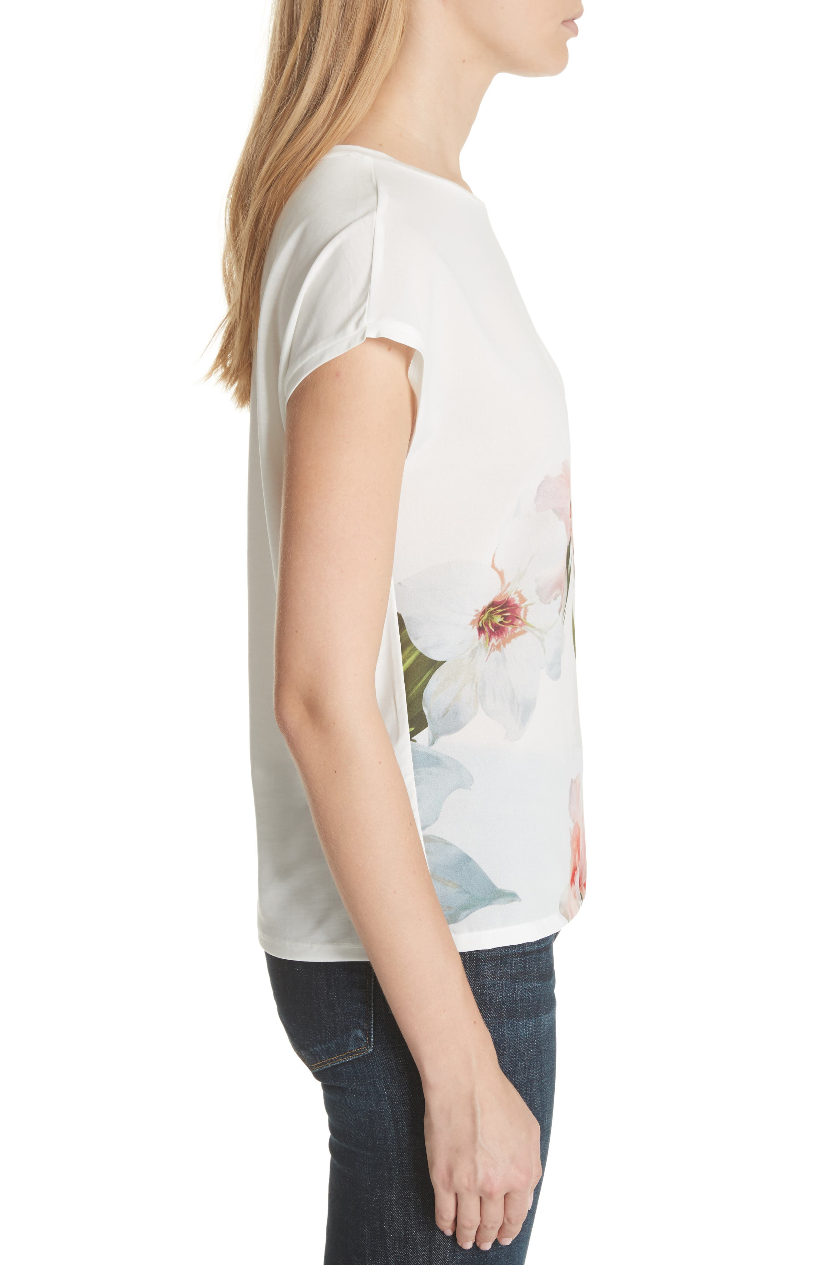 Chatsworth Bloom Tee,                             Alternate thumbnail 3, color,                             110