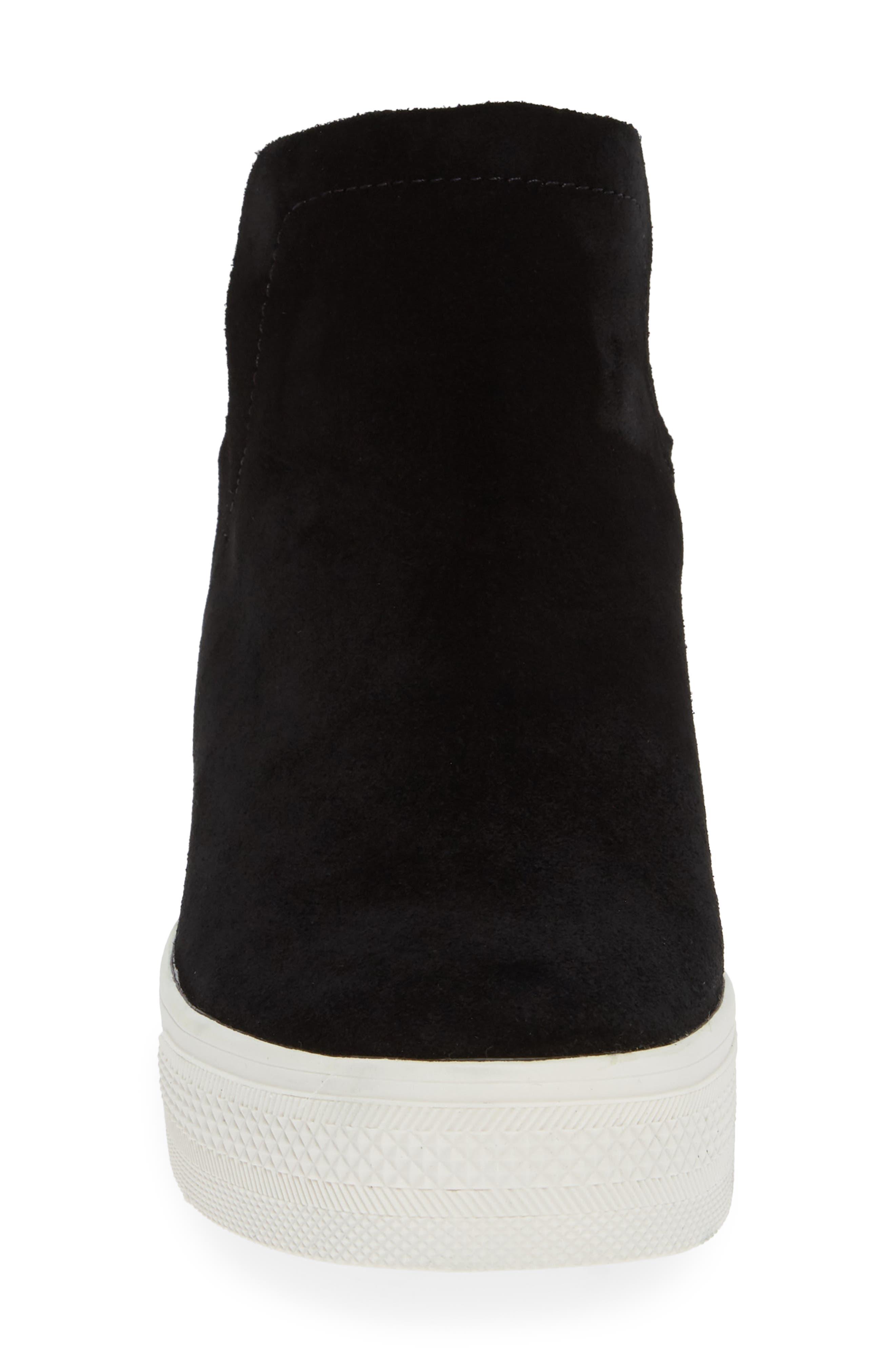 Wrangle Sneaker,                             Alternate thumbnail 4, color,                             BLACK SUEDE