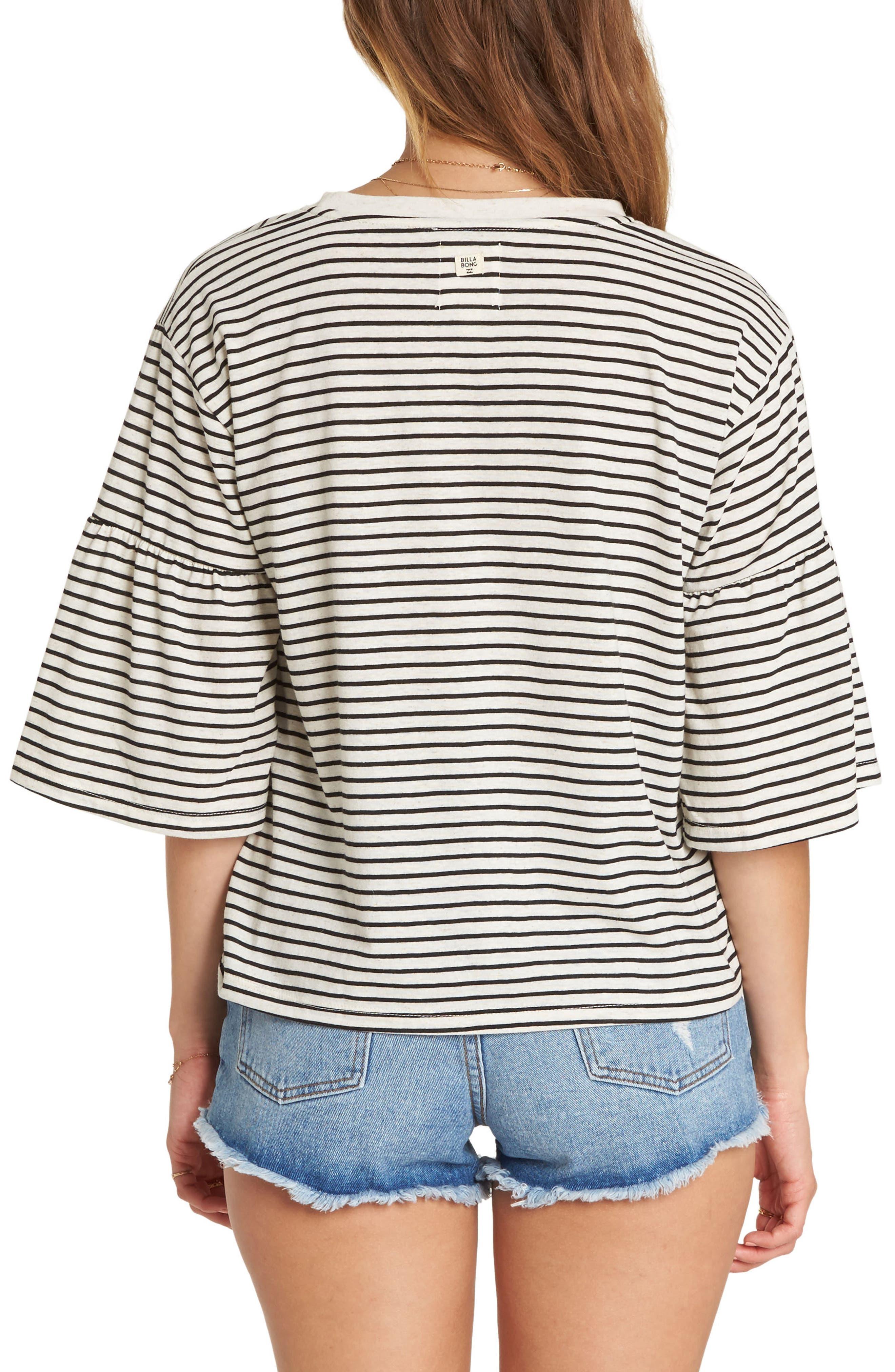 Today's Crush Stripe Ruffle Sleeve Tee,                             Alternate thumbnail 2, color,                             250