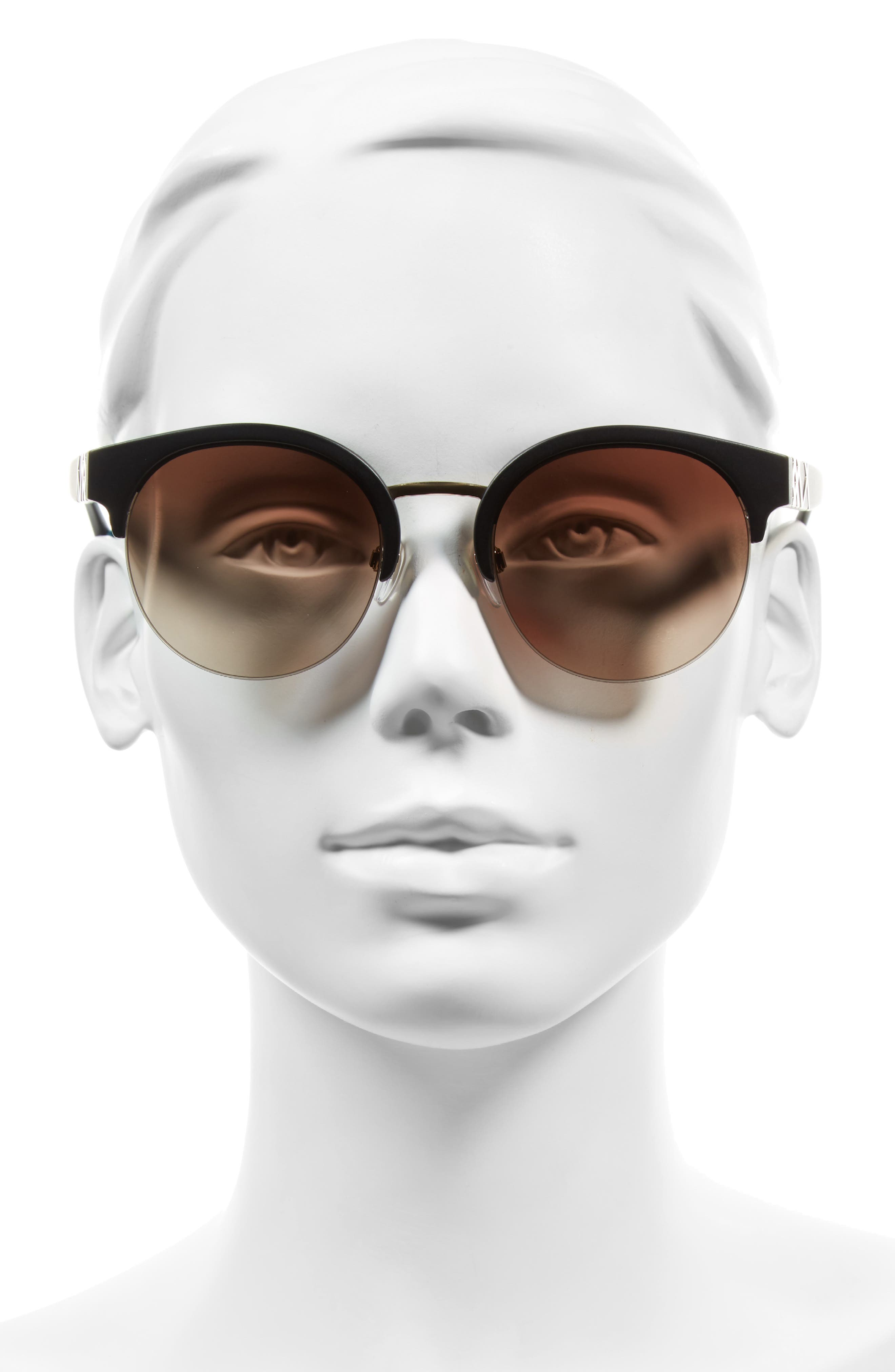 52mm Gradient Semi Rimless Sunglasses,                             Alternate thumbnail 4, color,