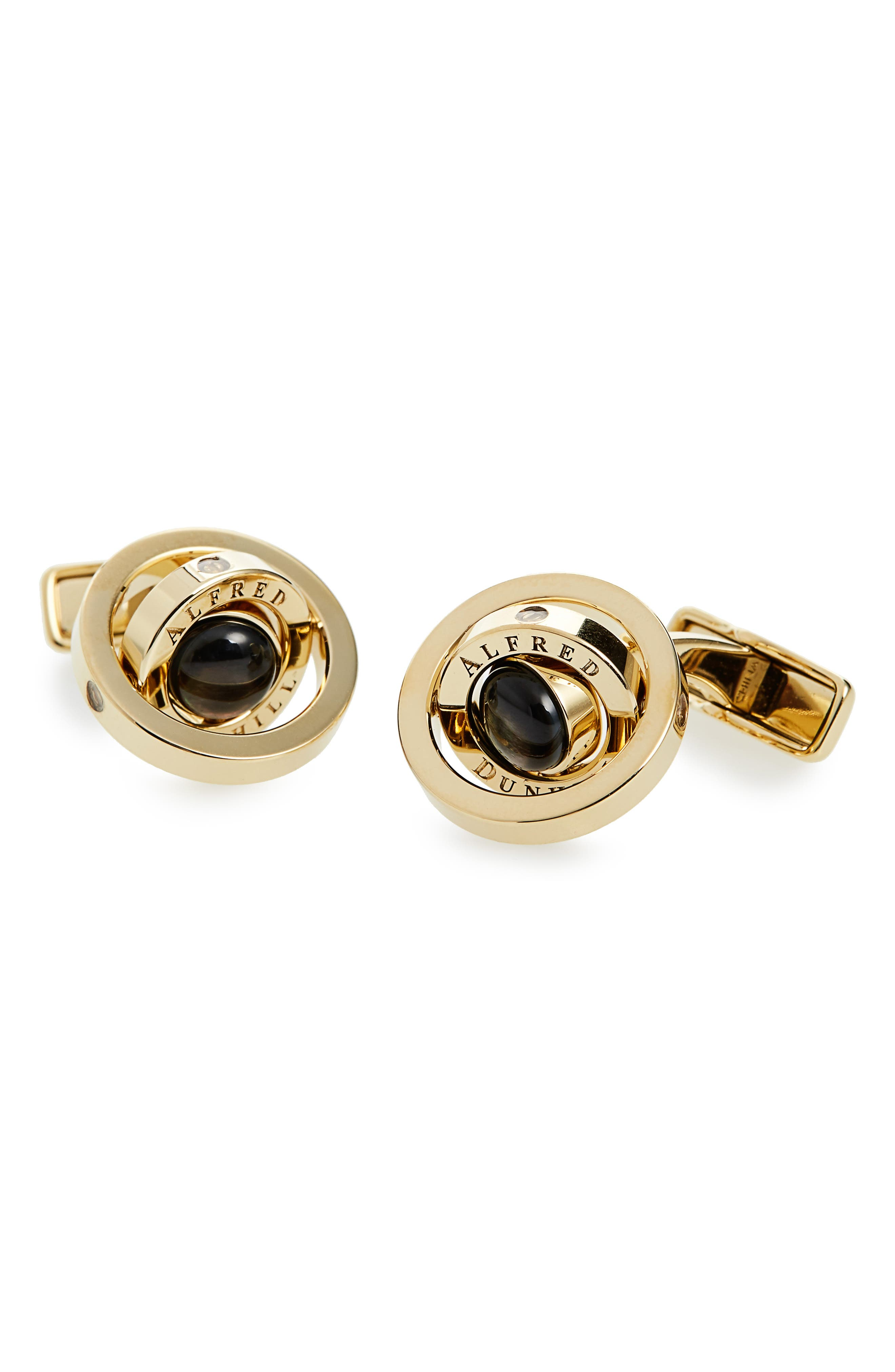 DUNHILL Gyro Cuff Links in Gold