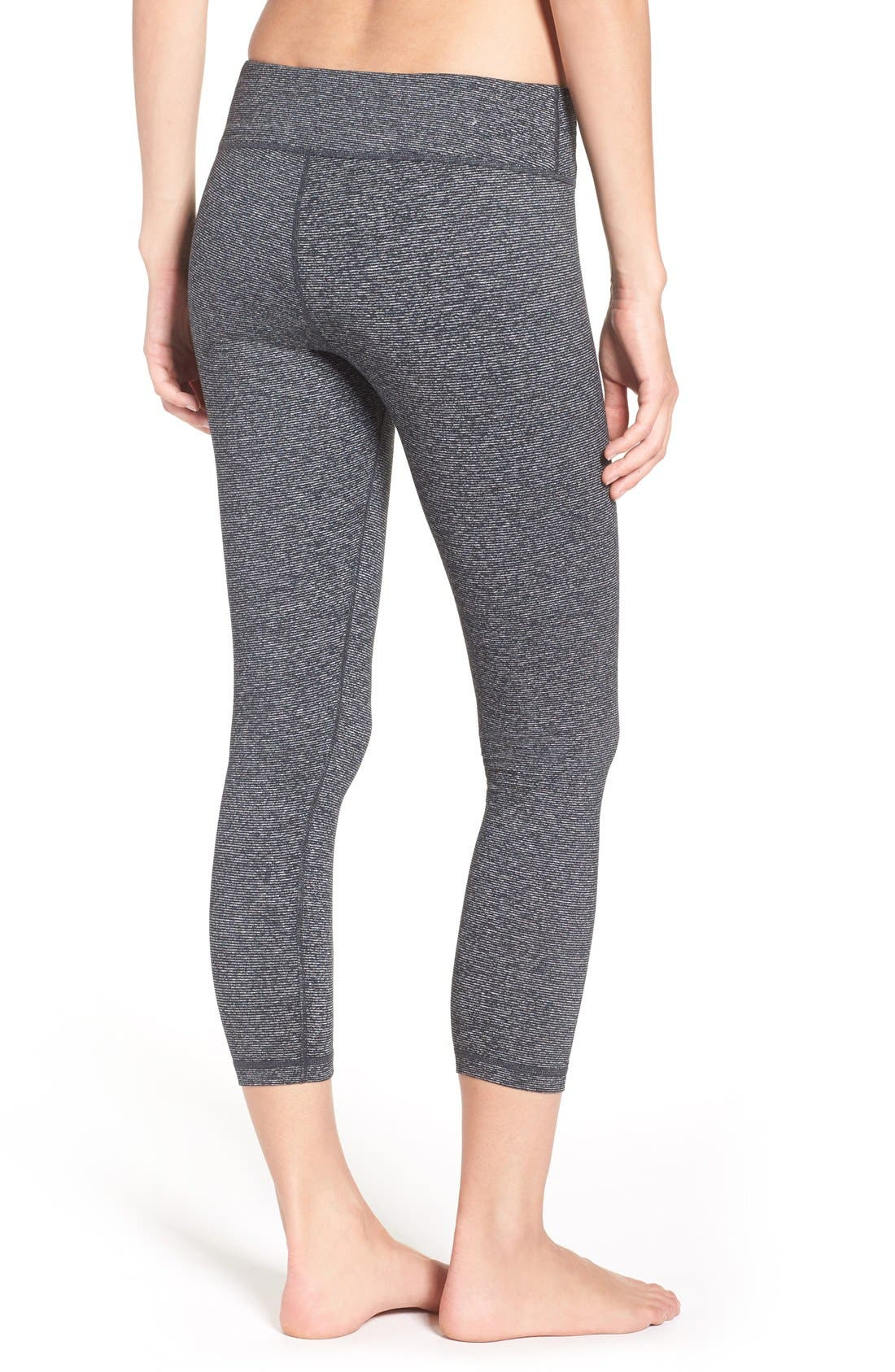 'Live In' Midi Leggings,                             Alternate thumbnail 3, color,                             002