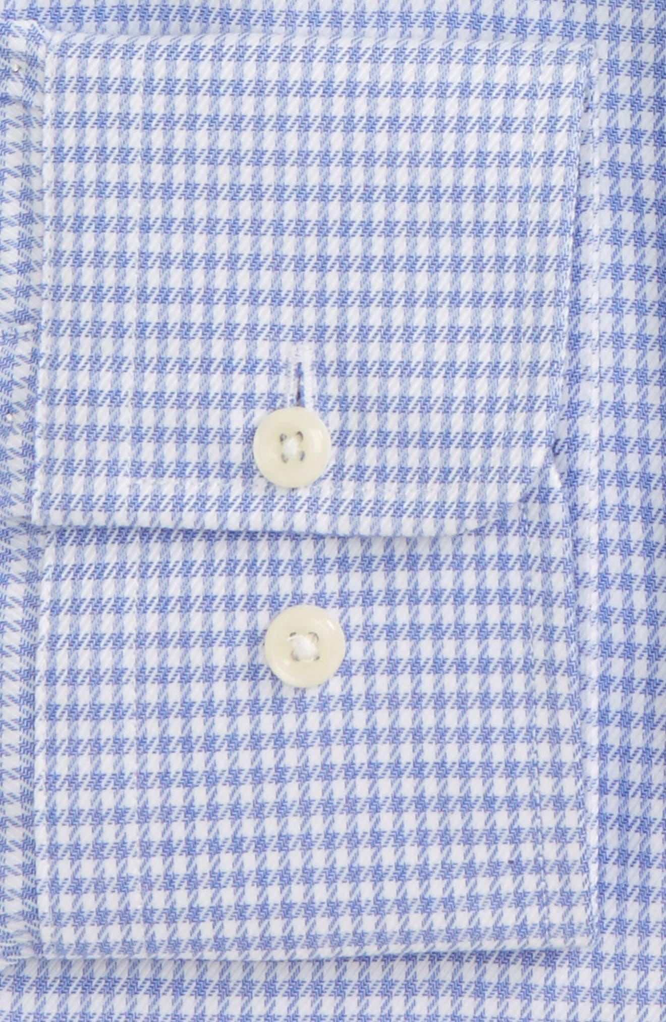 Trim Fit Houndstooth Dress Shirt,                             Alternate thumbnail 2, color,                             423