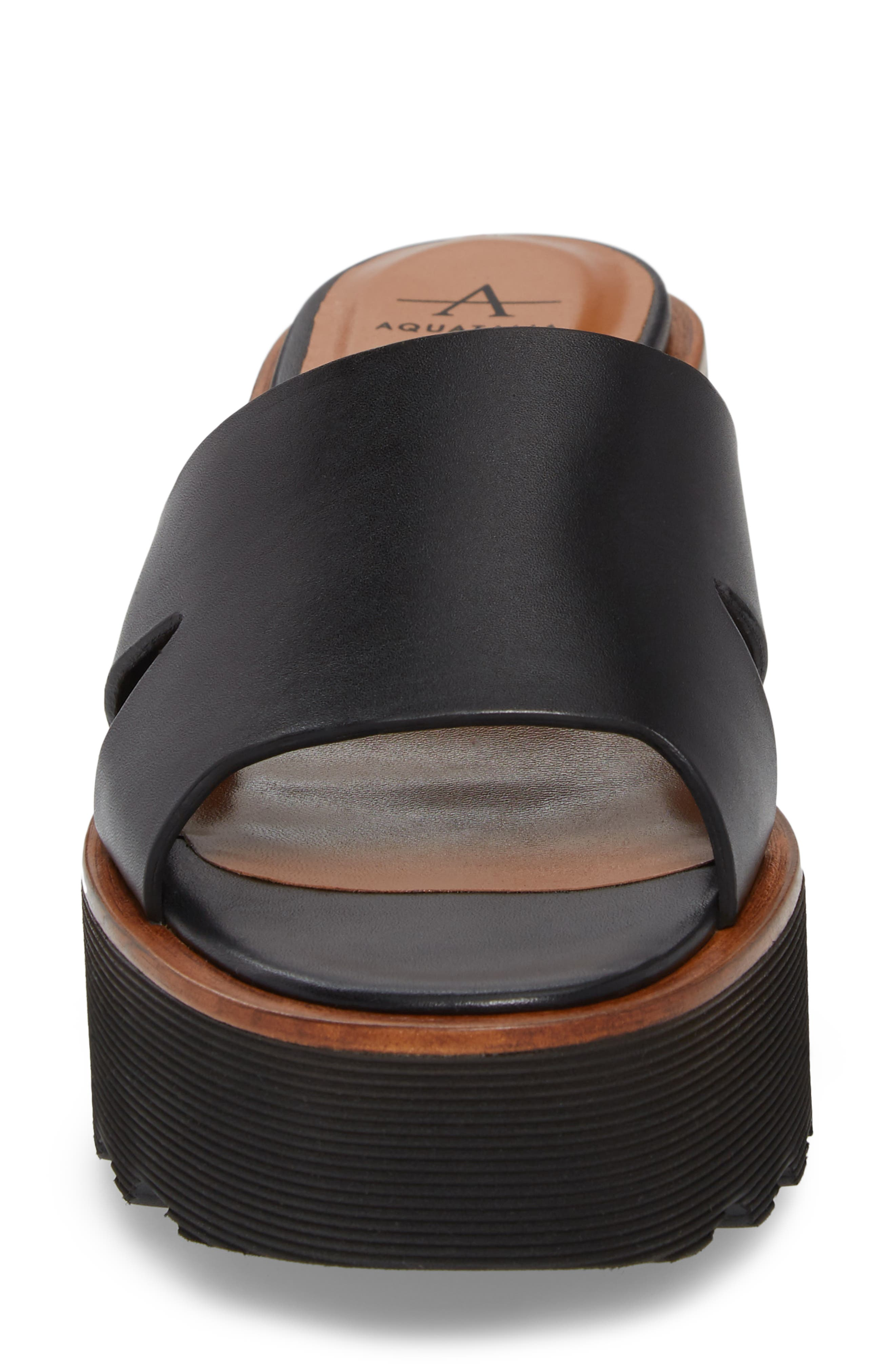 Tayla Platform Wedge Sandal,                             Alternate thumbnail 4, color,                             001