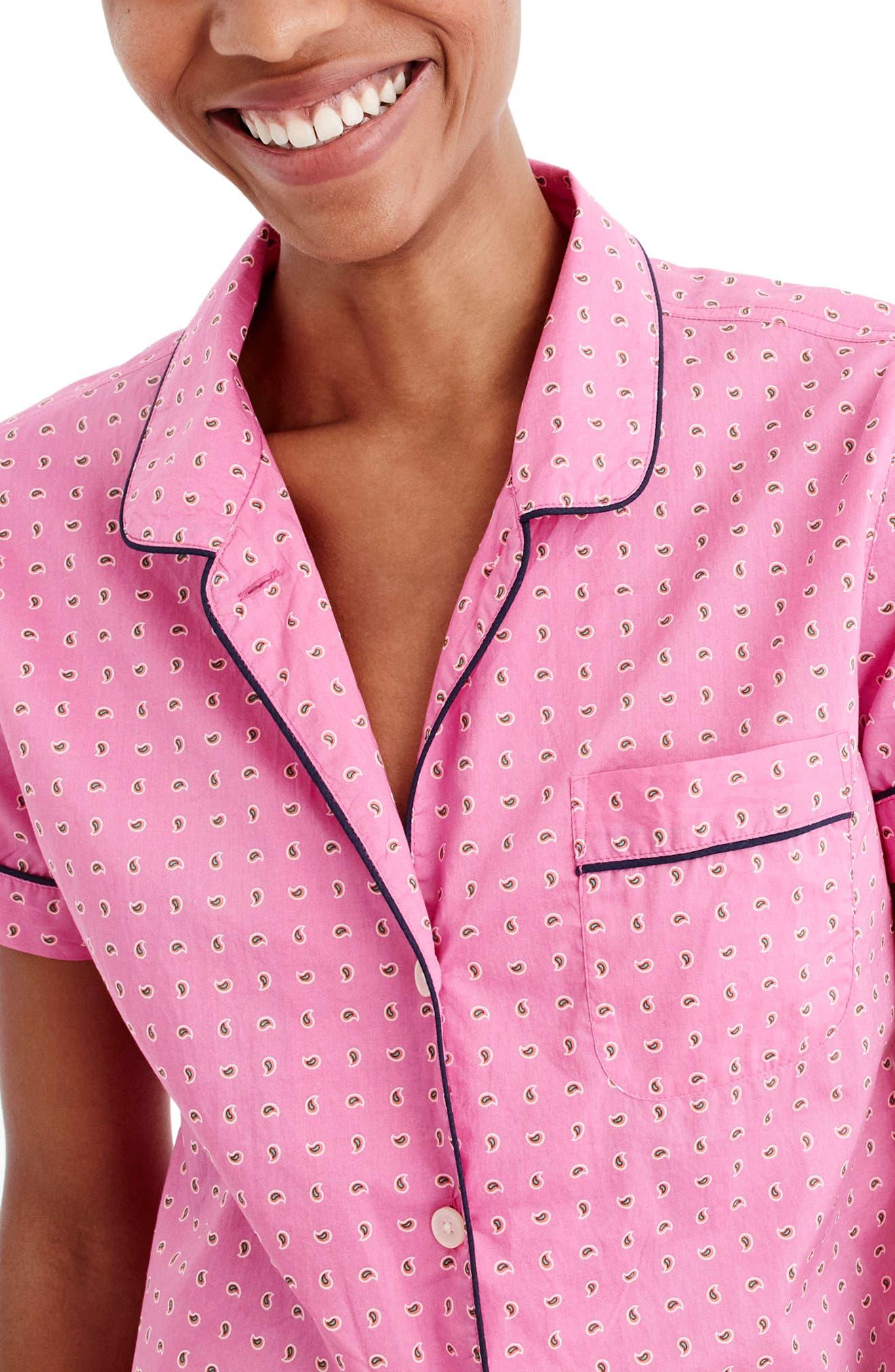 Short Cotton Pajamas,                             Alternate thumbnail 2, color,                             650