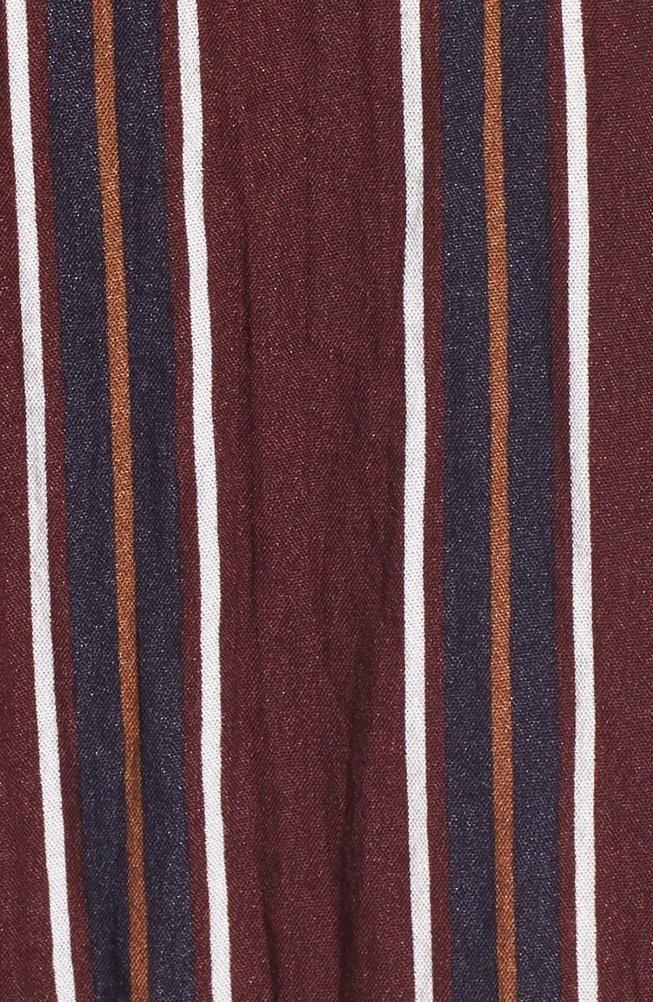 Stripe Wide Leg Jumpsuit,                             Alternate thumbnail 5, color,                             930