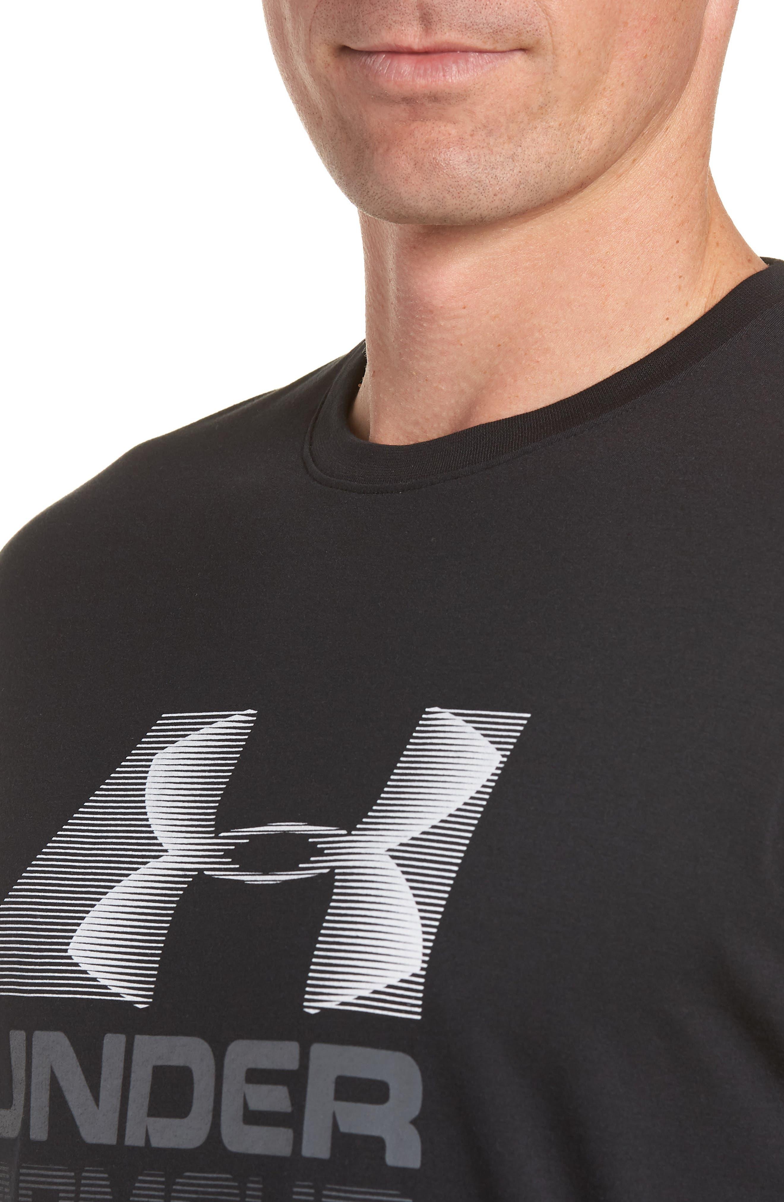 Trim Fit Vanish Logo T-Shirt,                             Alternate thumbnail 4, color,                             BLACK/ WHITE/ GRAPHITE