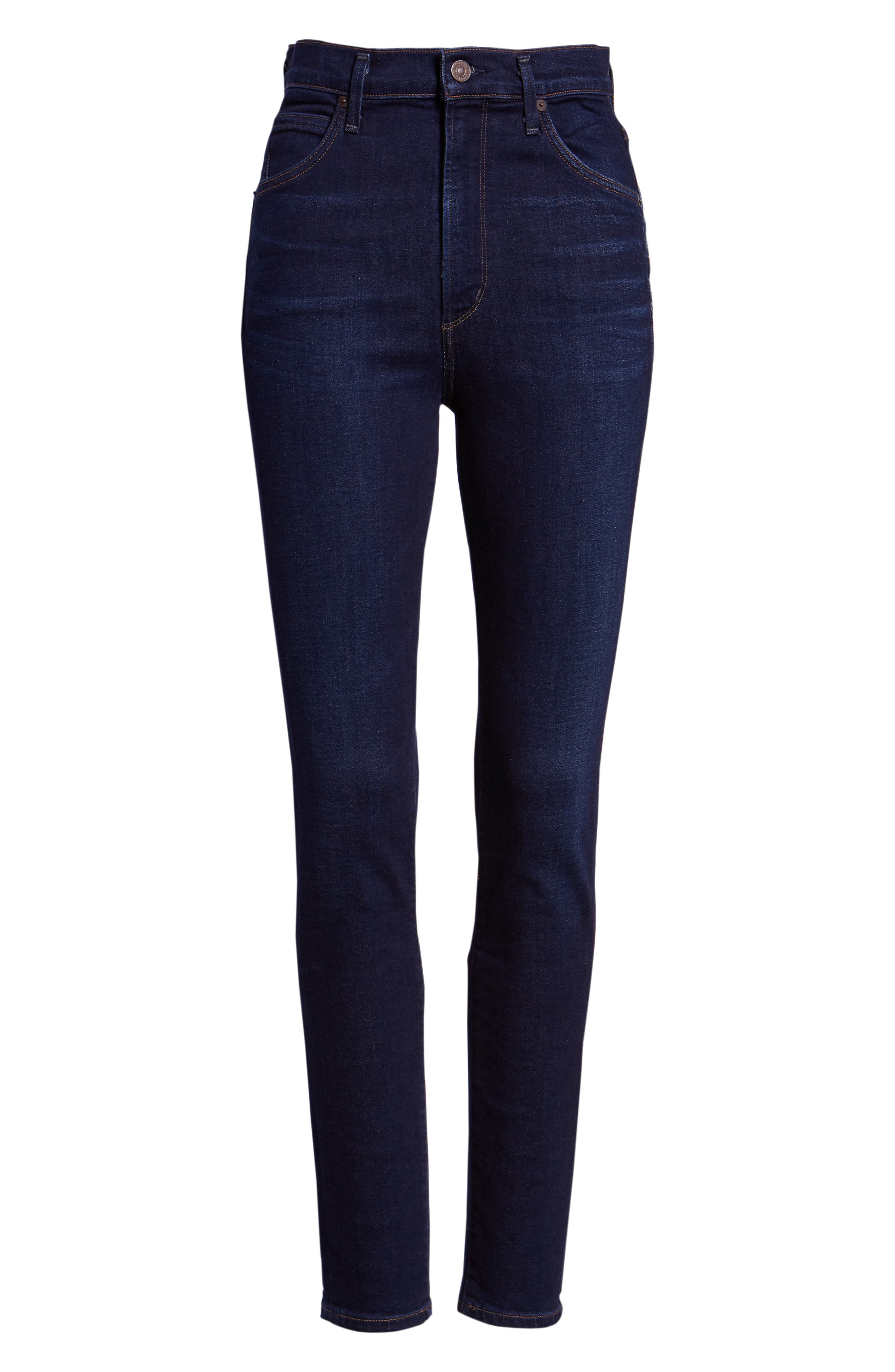 Chrissy High Waist Skinny Jeans,                             Alternate thumbnail 7, color,                             GALAXY
