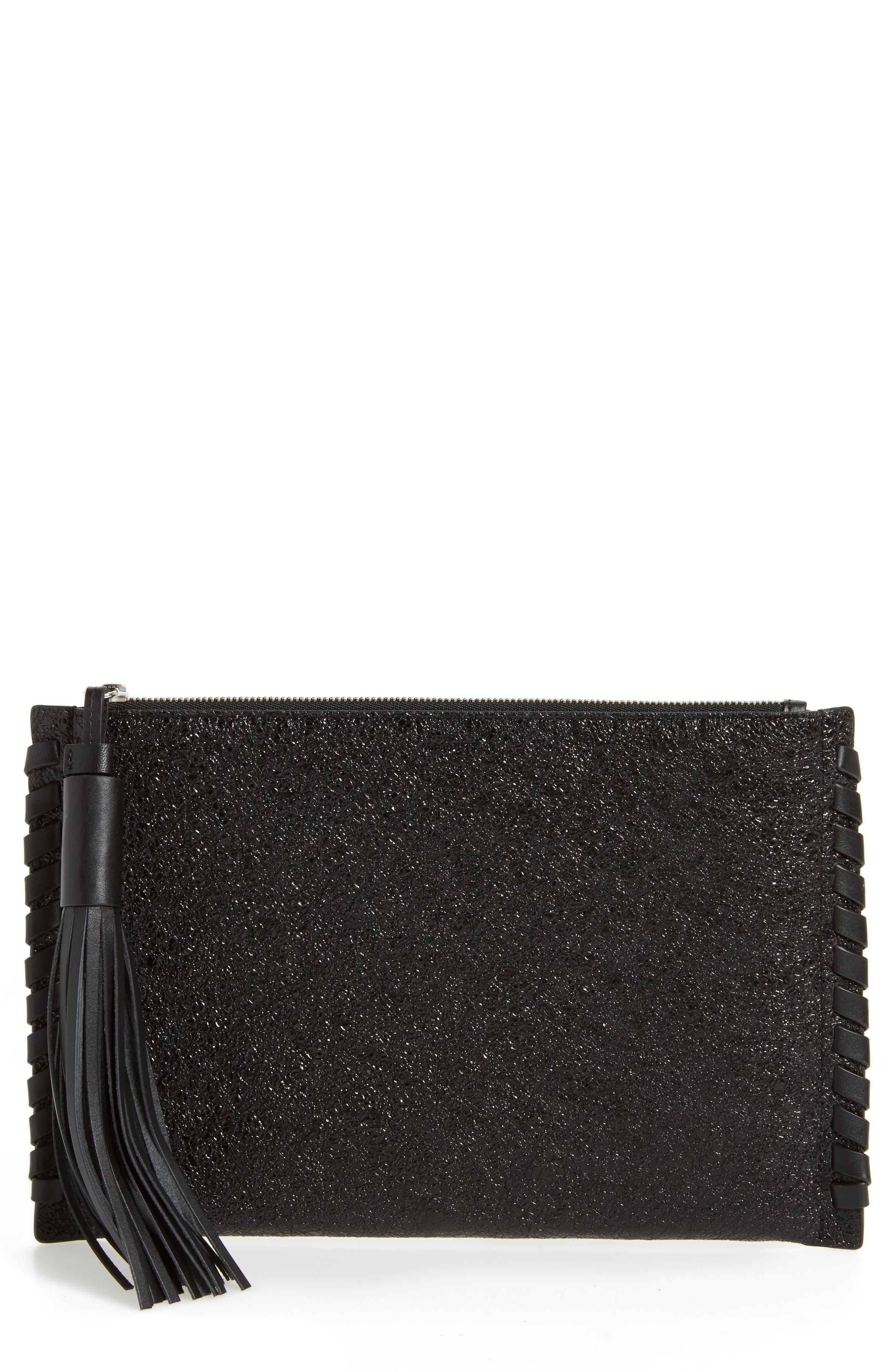 Kepi Leather Zip Pouch,                         Main,                         color,