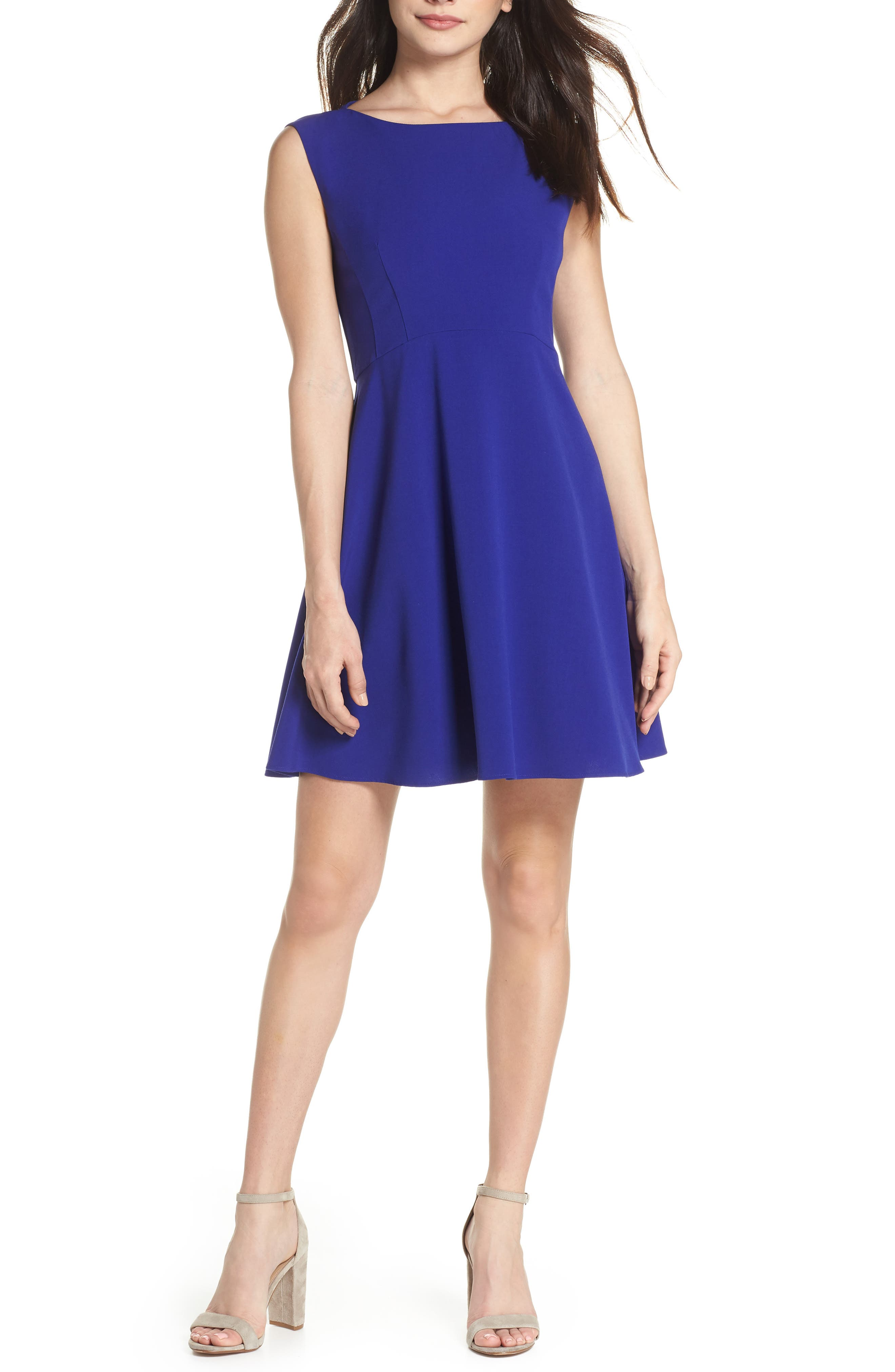 Whisper Ruth Fit & Flare Dress,                         Main,                         color, 405