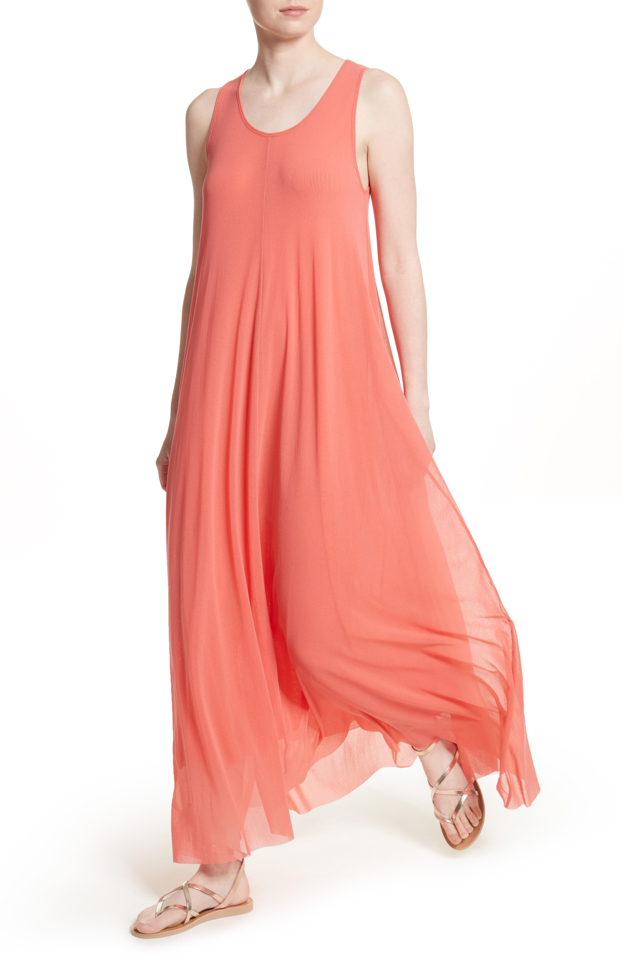 Belted Tulle Maxi Dress,                             Alternate thumbnail 8, color,