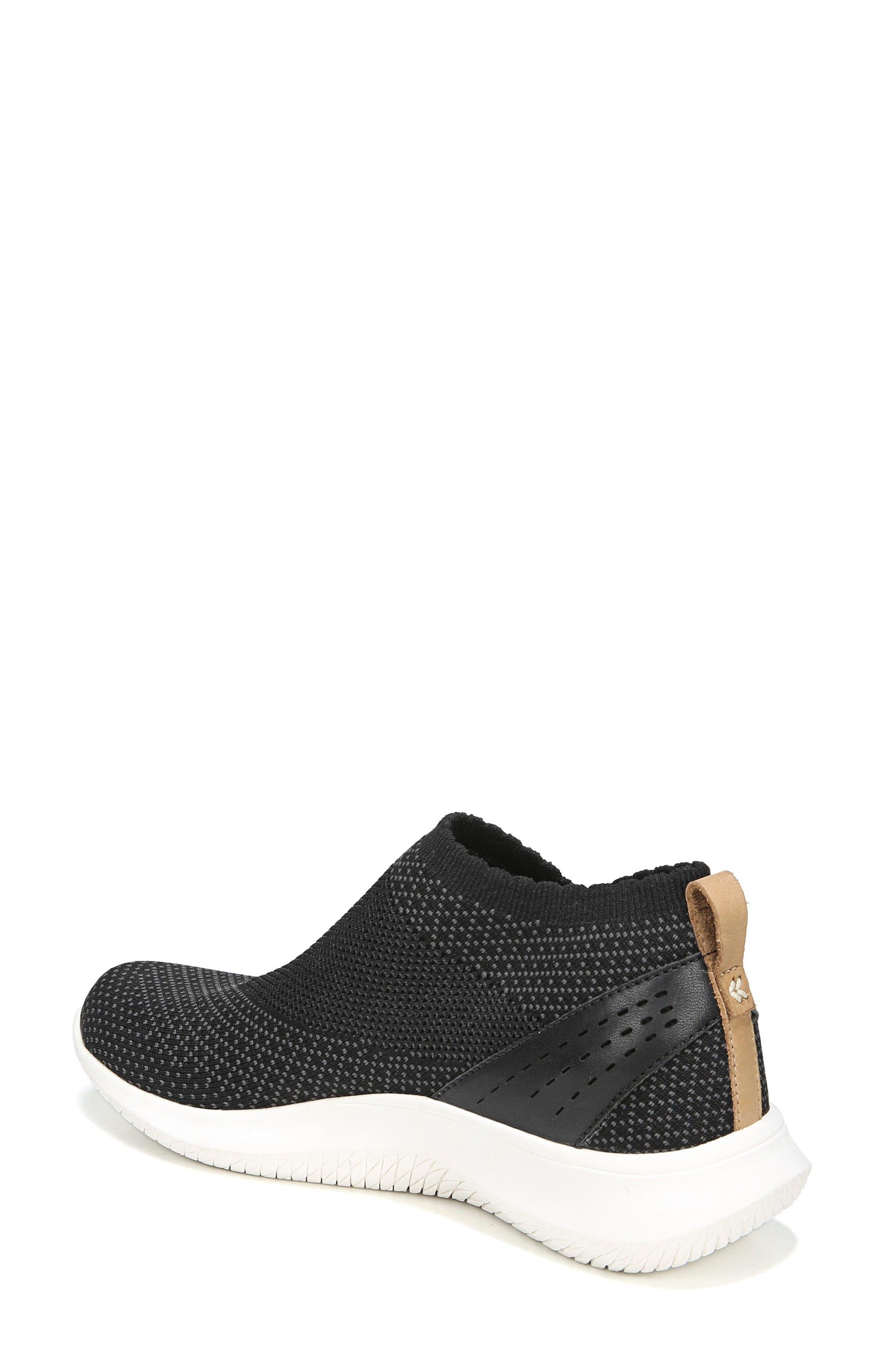 Fierce Knit Slip-On Sneaker,                             Alternate thumbnail 2, color,                             BLACK KNIT FABRIC