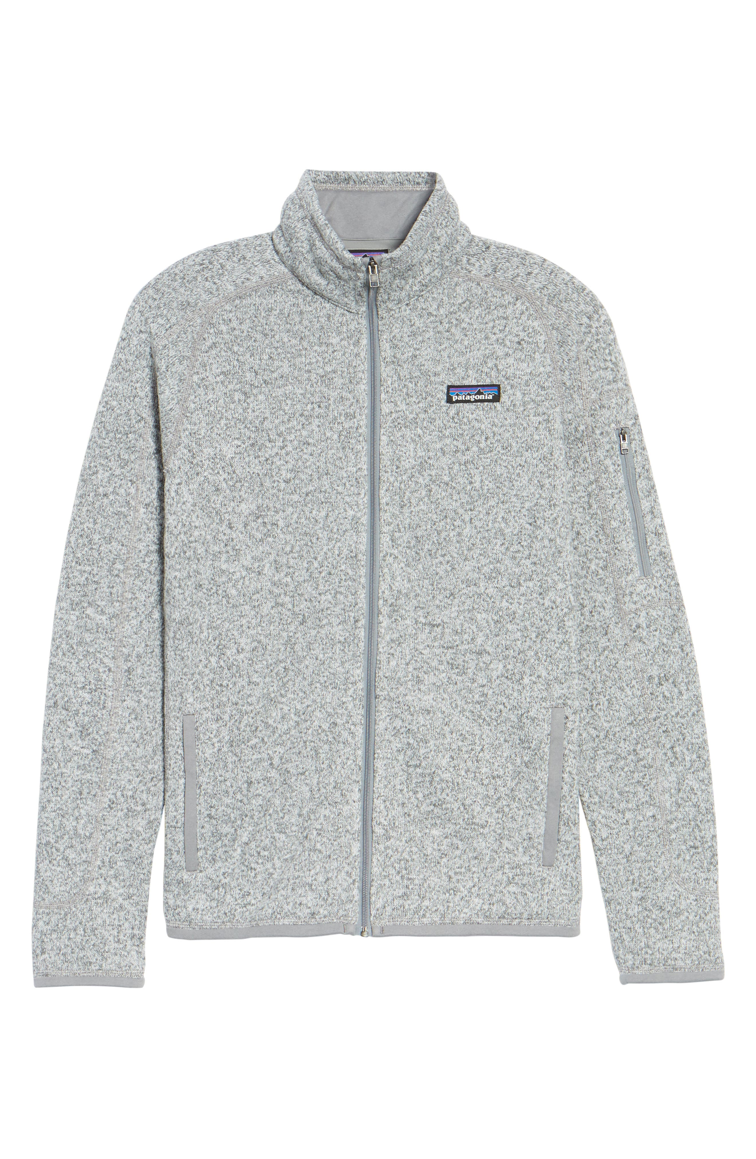 'BetterSweater' Jacket,                         Main,                         color, BIRCH WHITE